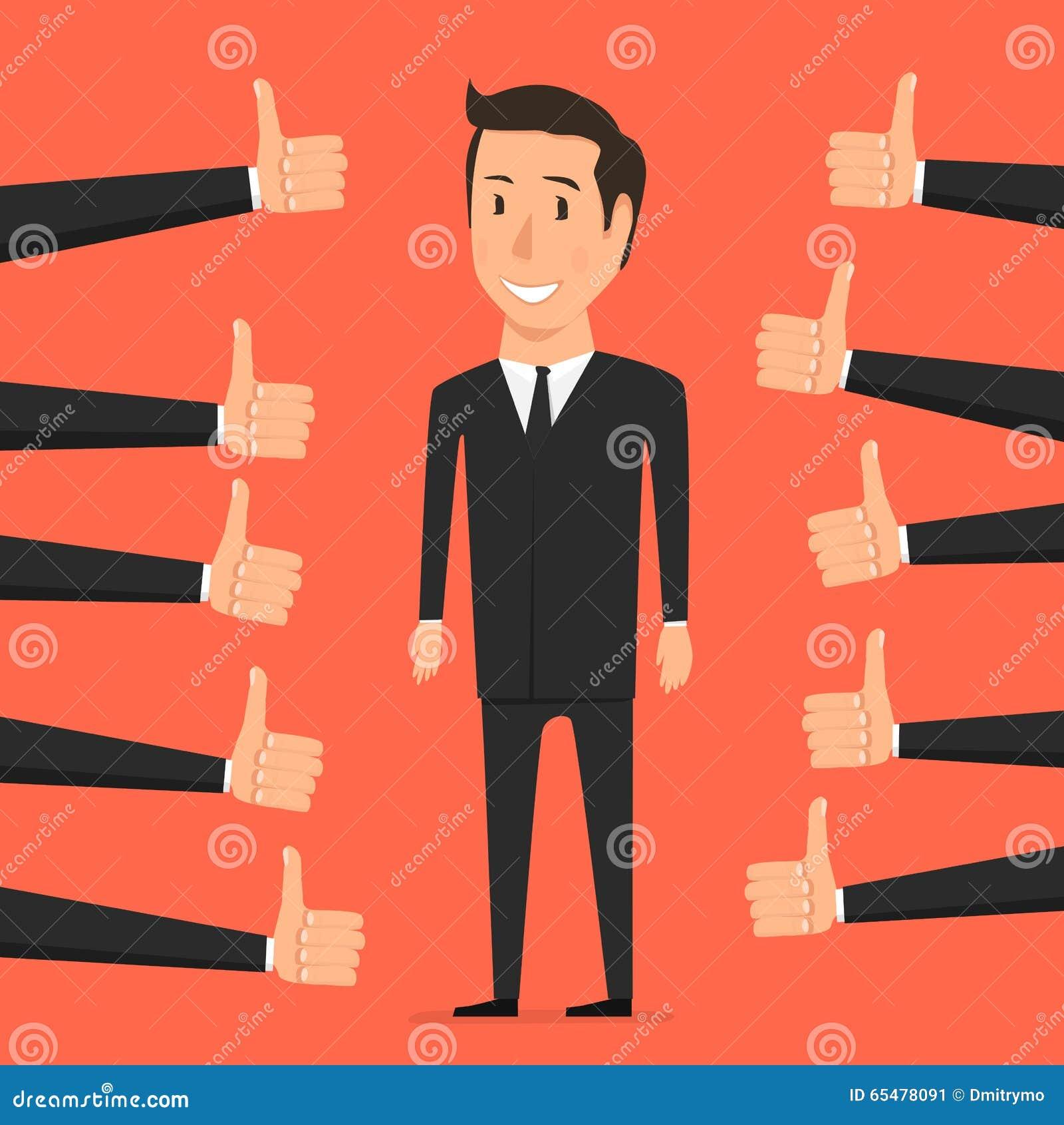 Mano con el pulgar para arriba Persona de la aprobación