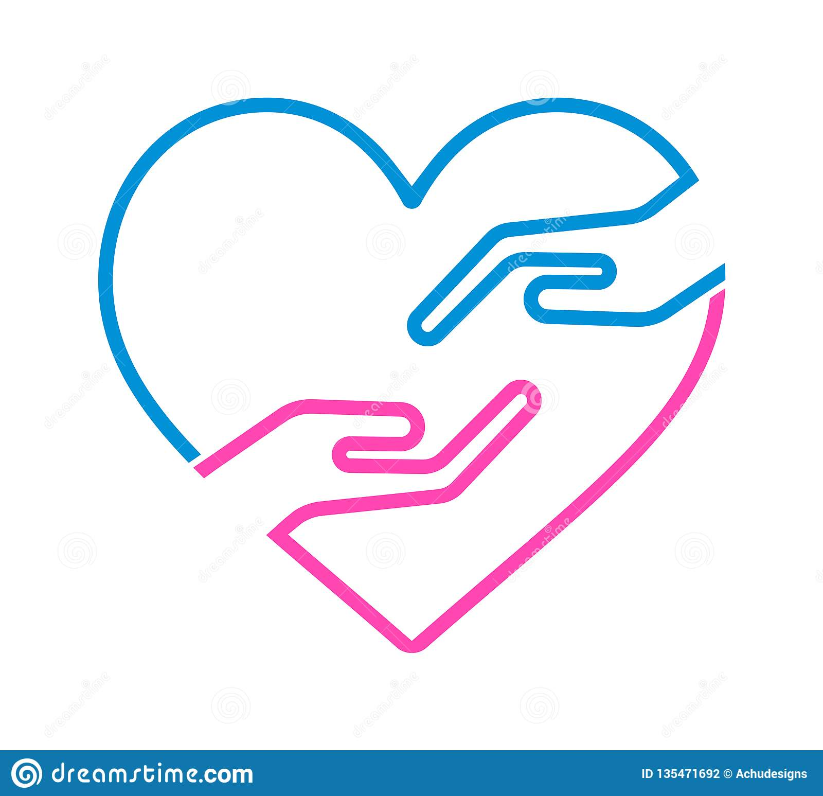 Mano con l icona del cuore