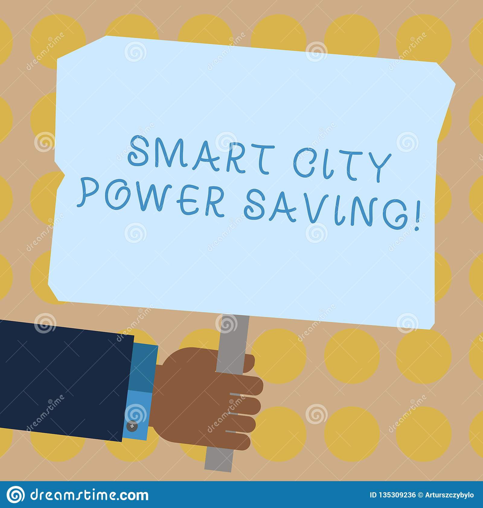 Mano conceptual que escribe mostrando el ahorro de energía de Smart City Foto del negocio que muestra ciudades tecnológicas conec