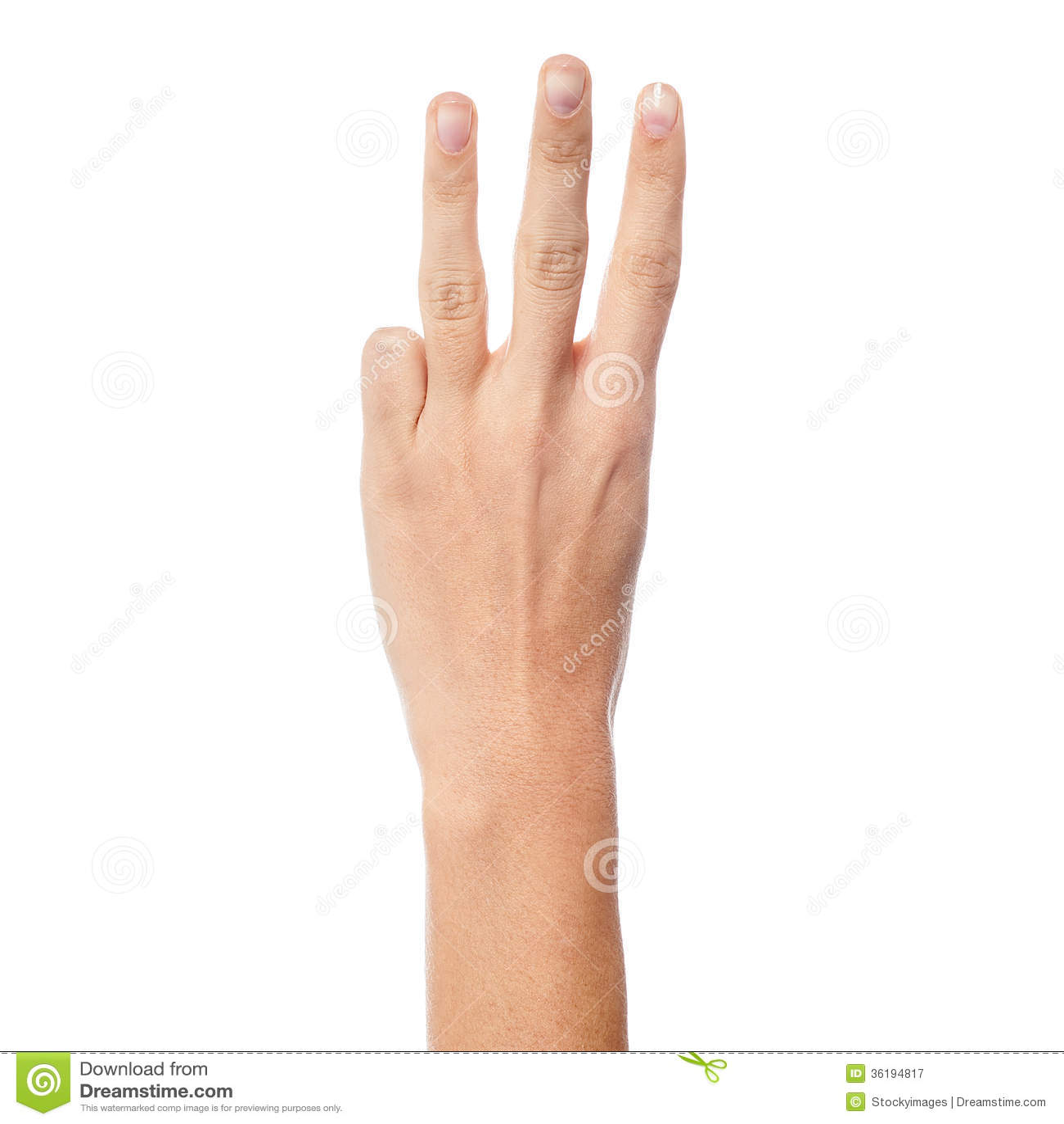 mano muestra