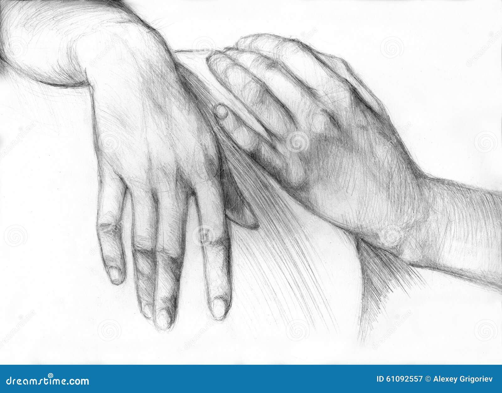 Mano del disegno a matita illustrazione di stock for Lupo disegno a matita