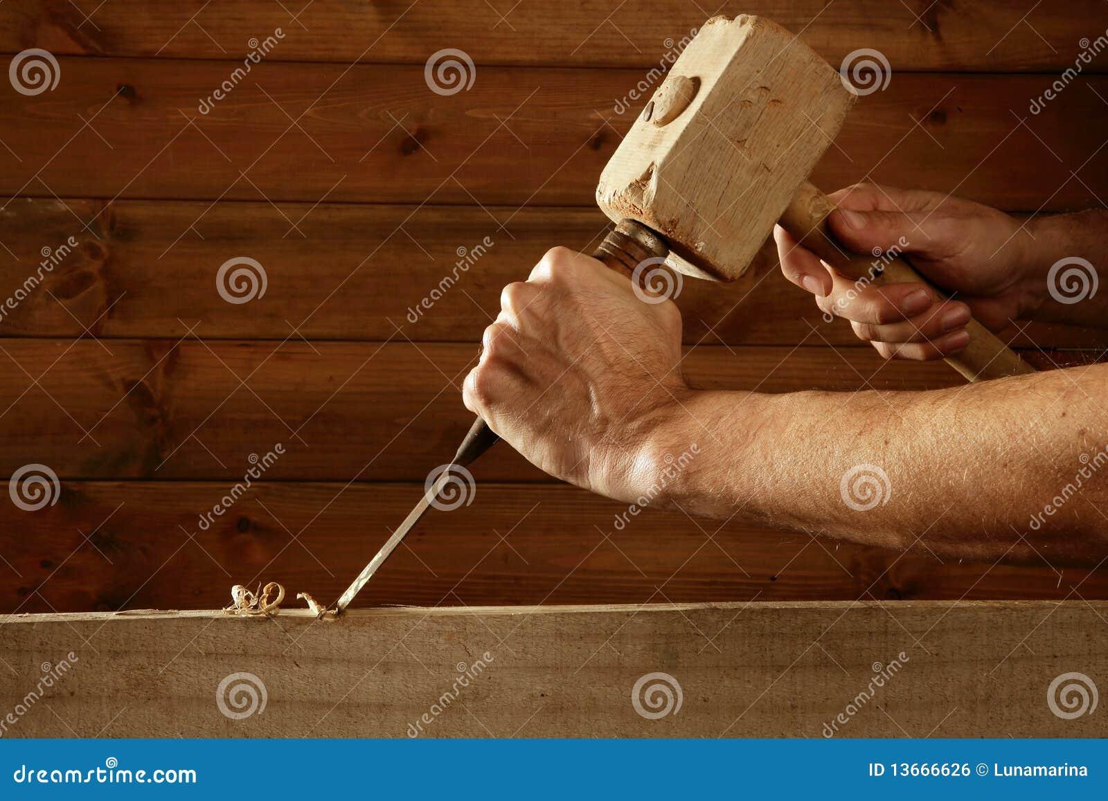 Mano del martello dello strumento del carpentiere dello scalpello da legno della sgorbiatura
