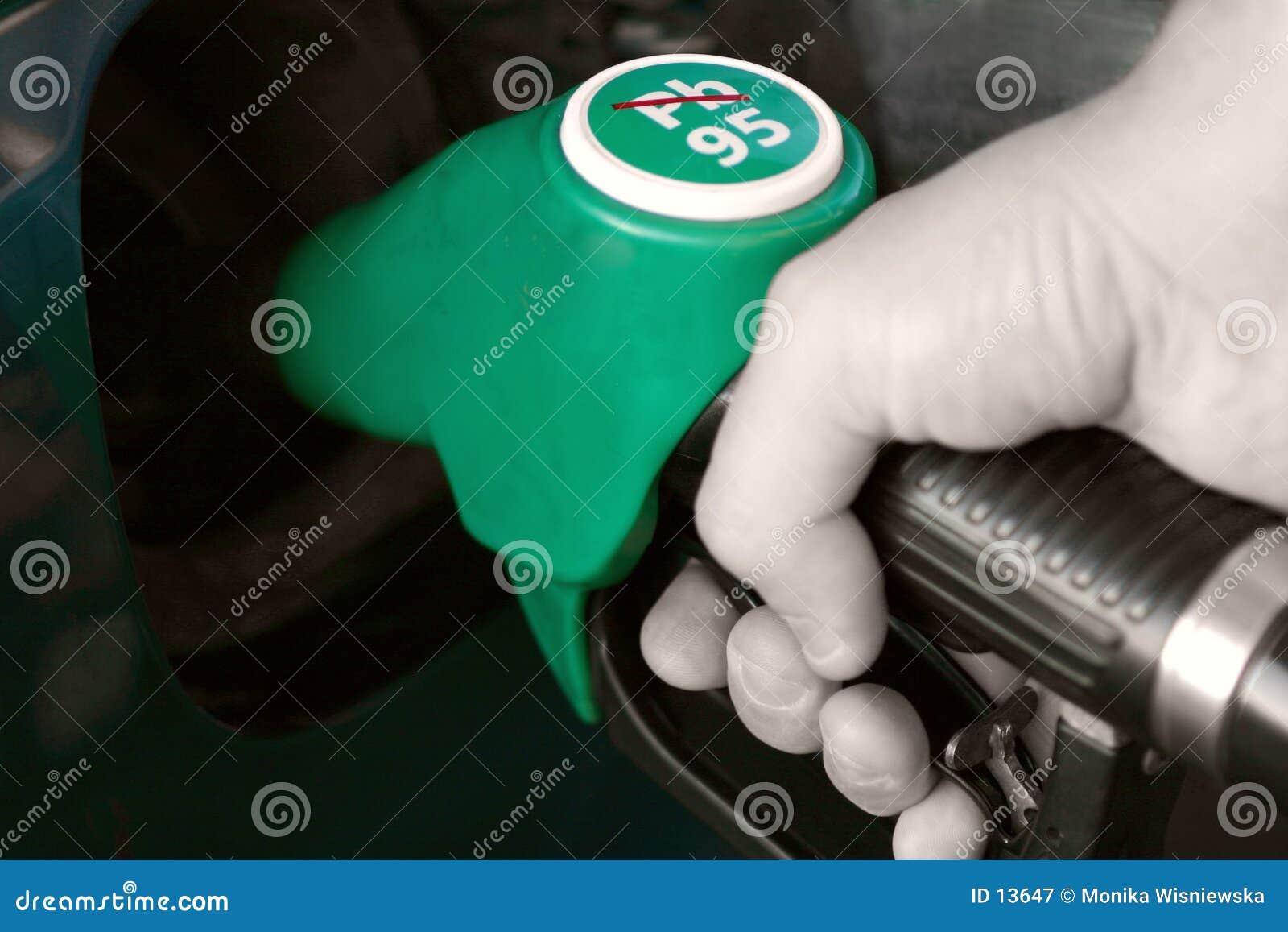 Mano del surtidor de gasolina