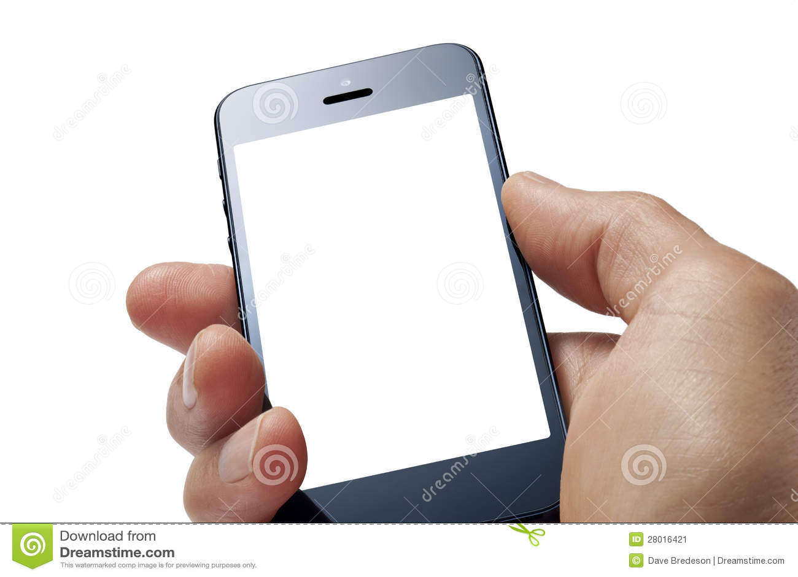 Mano del teléfono celular