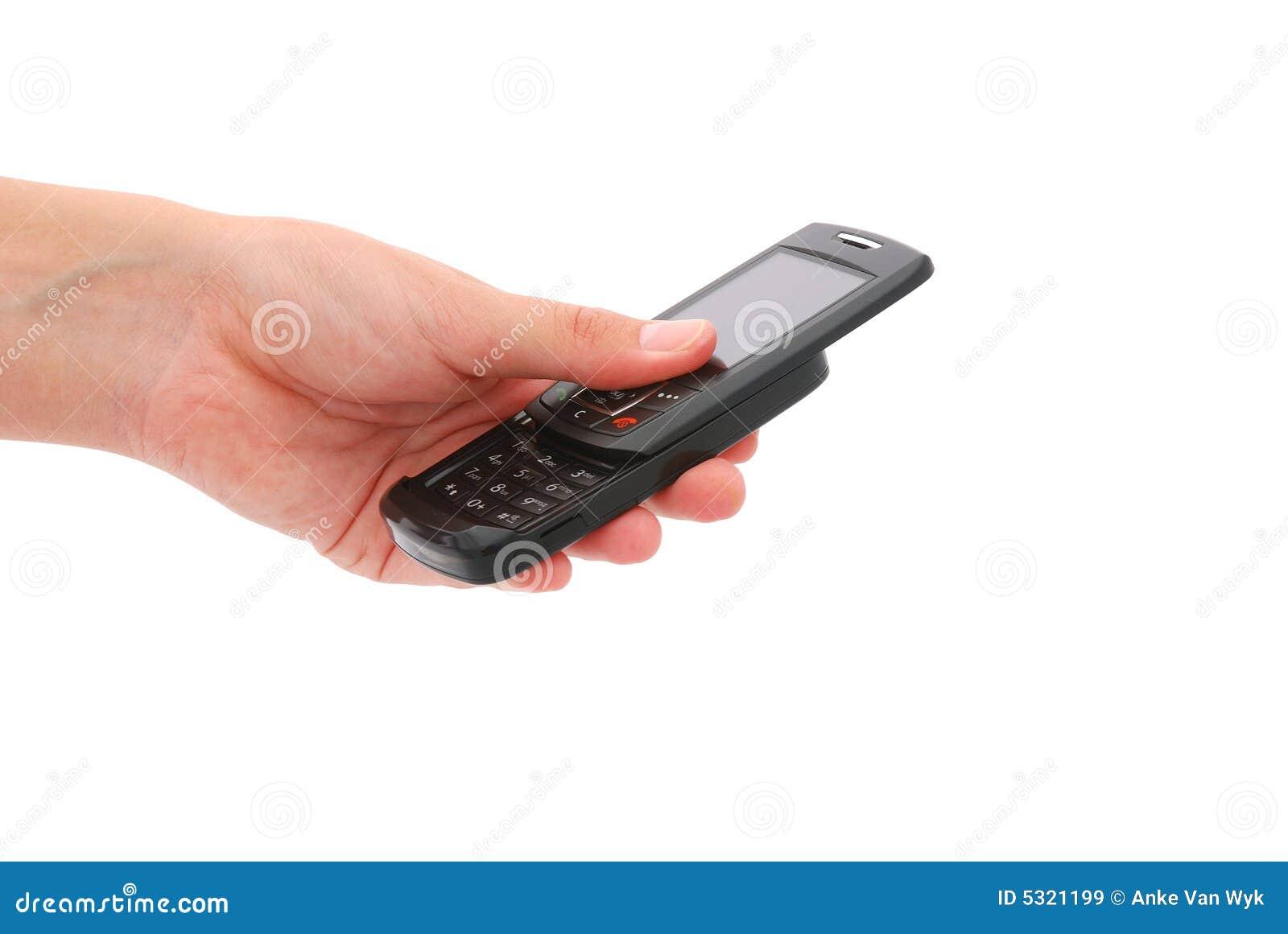Download Mano Per Mezzo Del Cellulare Immagine Stock - Immagine di vibrazione, cellphones: 5321199