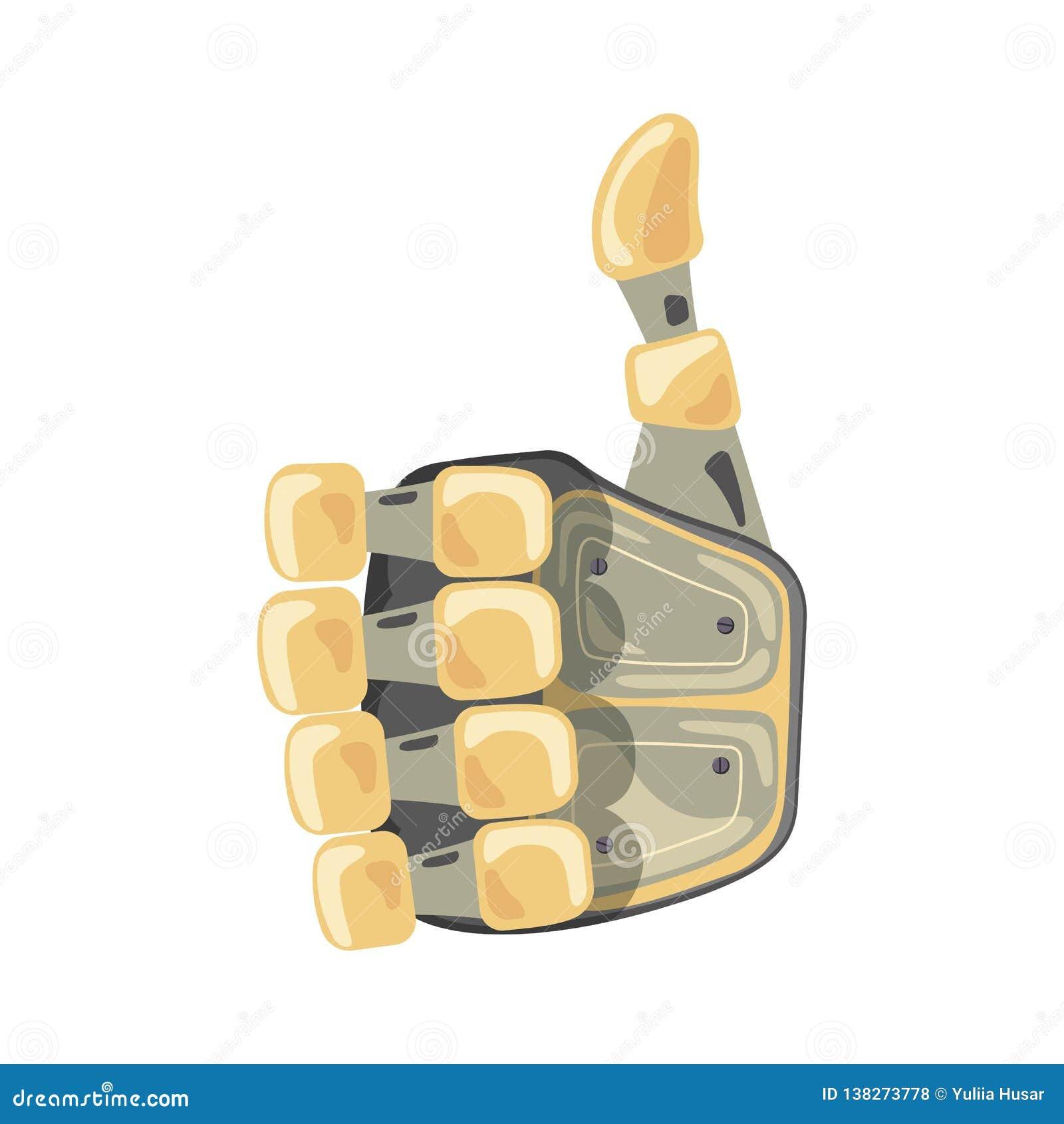 Mano y mariposa del robot Símbolo mecánico de la ingeniería de la máquina de la tecnología Gestos de mano Autorización Muestra fr