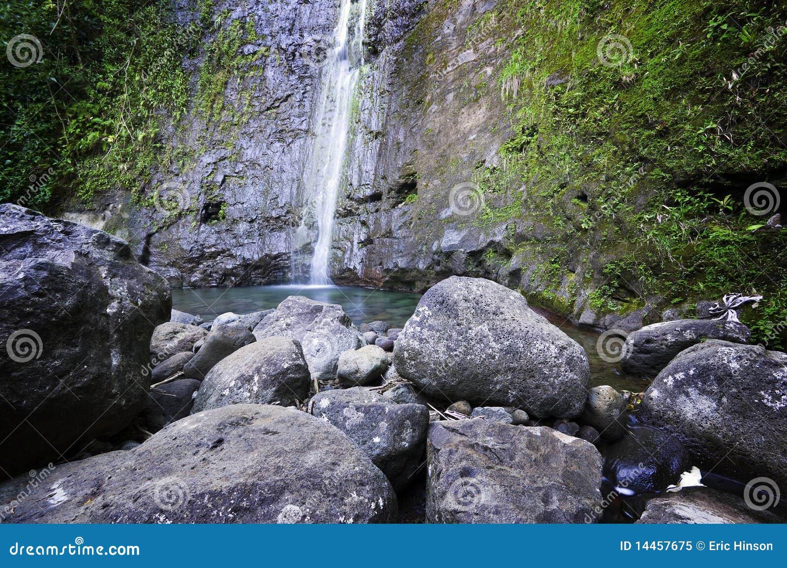 Manoa Fälle u. Pool, Oahu, hawaiische Inseln