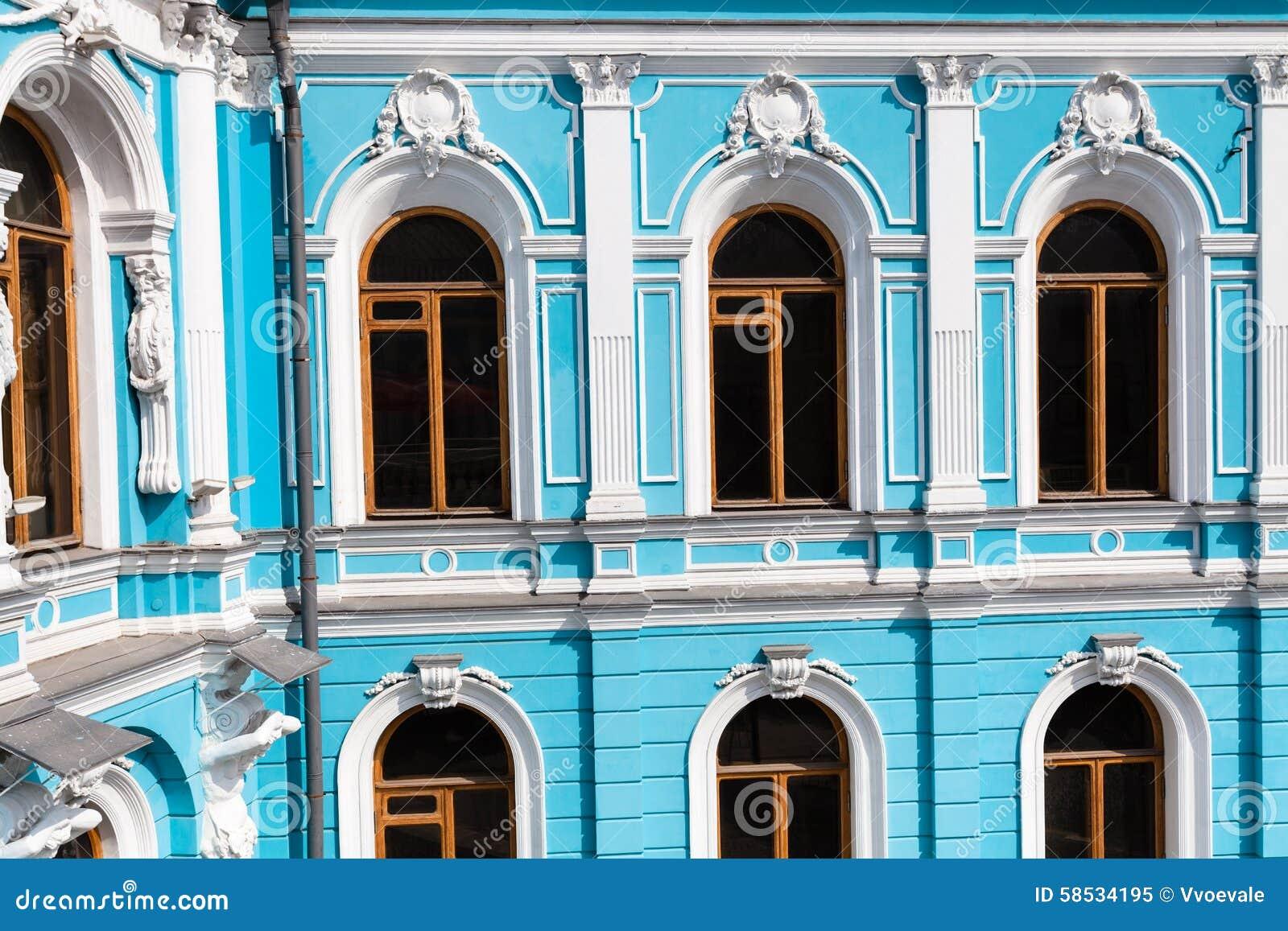 manoir dans le style du baroque classique photo stock image 58534195. Black Bedroom Furniture Sets. Home Design Ideas