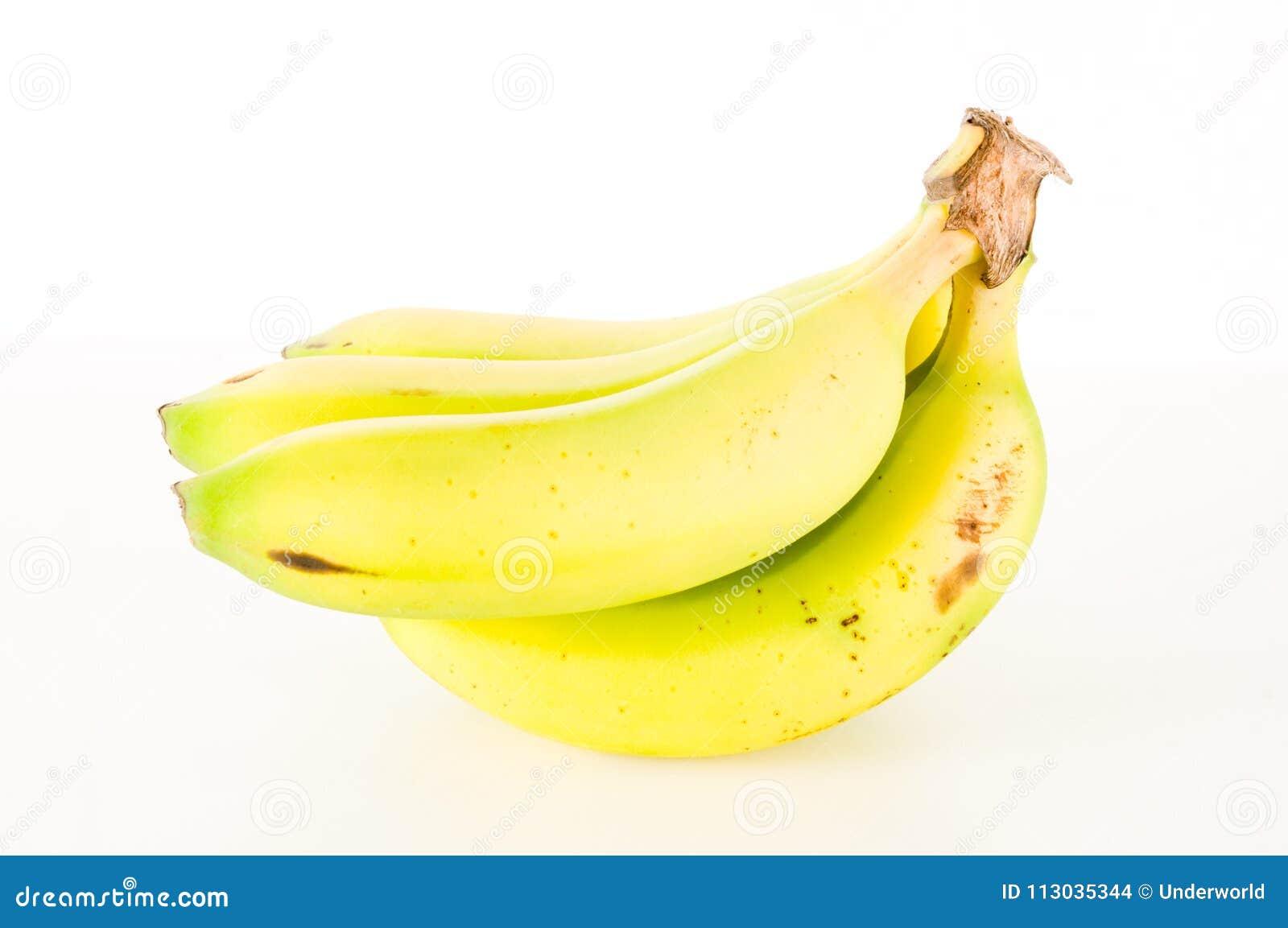 Manojo de plátanos aislados