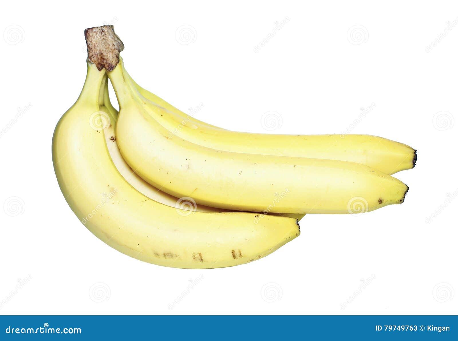 Manojo de plátanos amarillos aislados