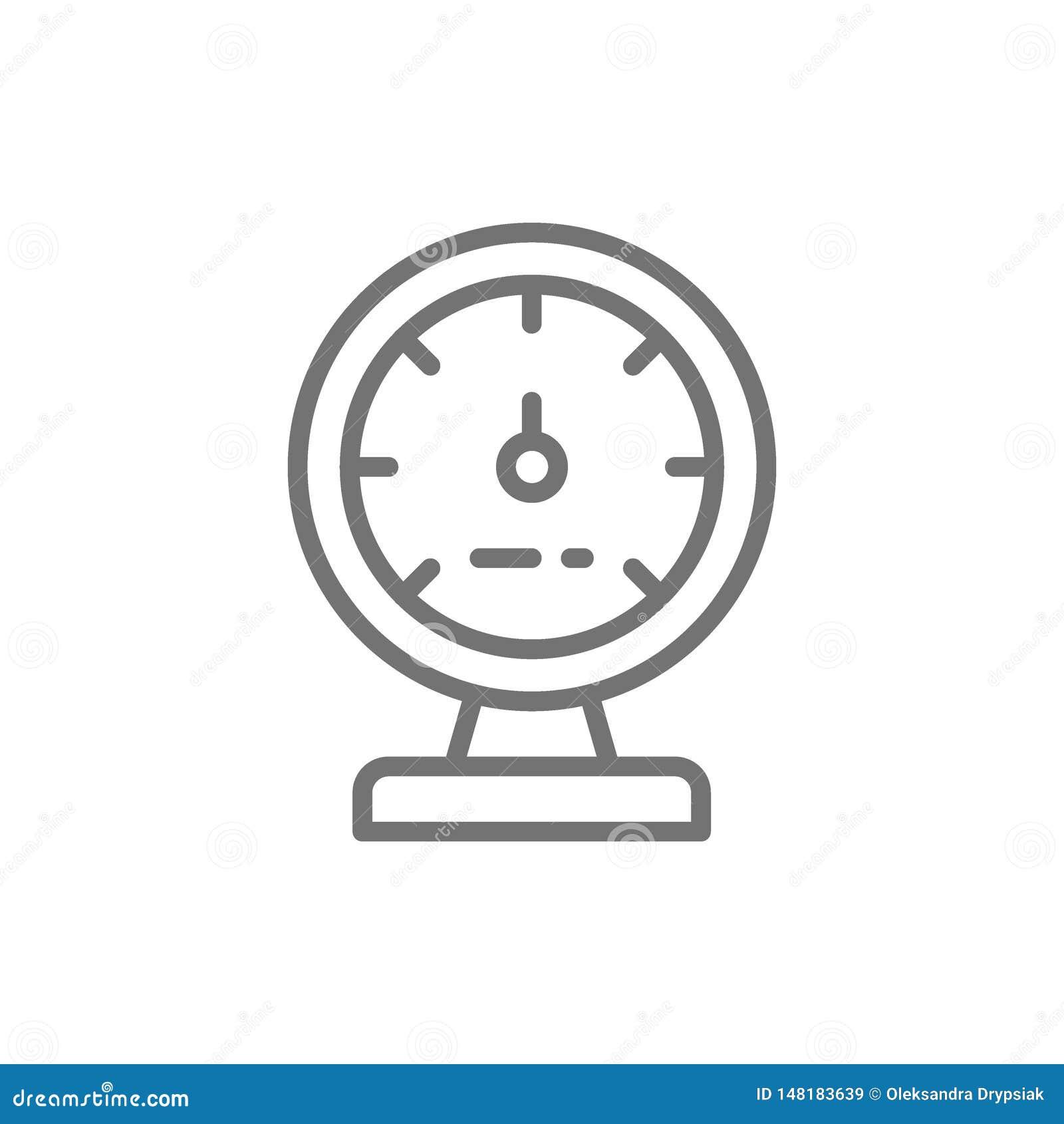 Manometer apparat för att mäta ånga och vattentrycklinjen symbol