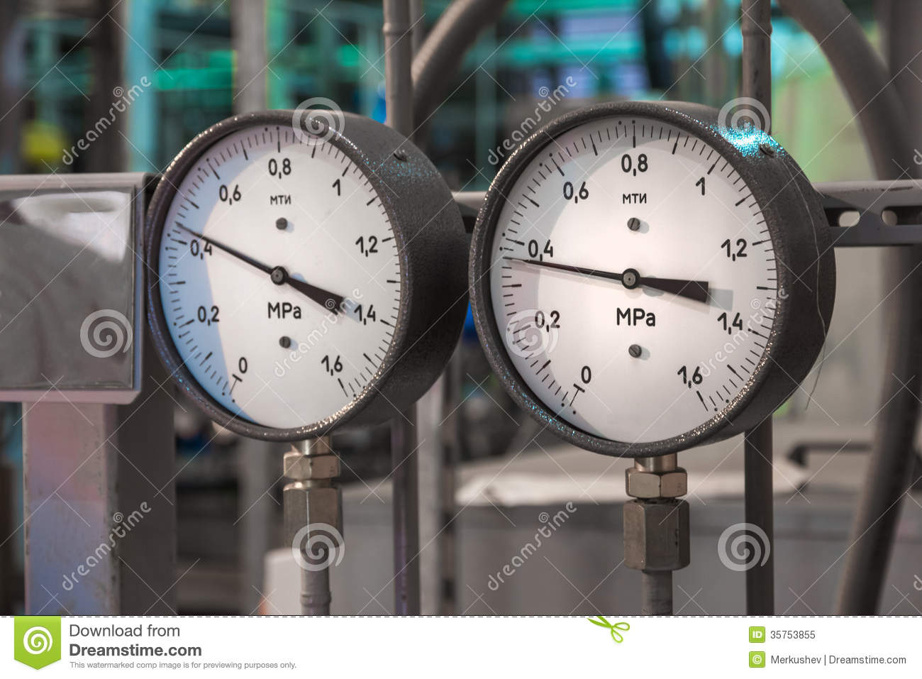 Manometers in de boiler