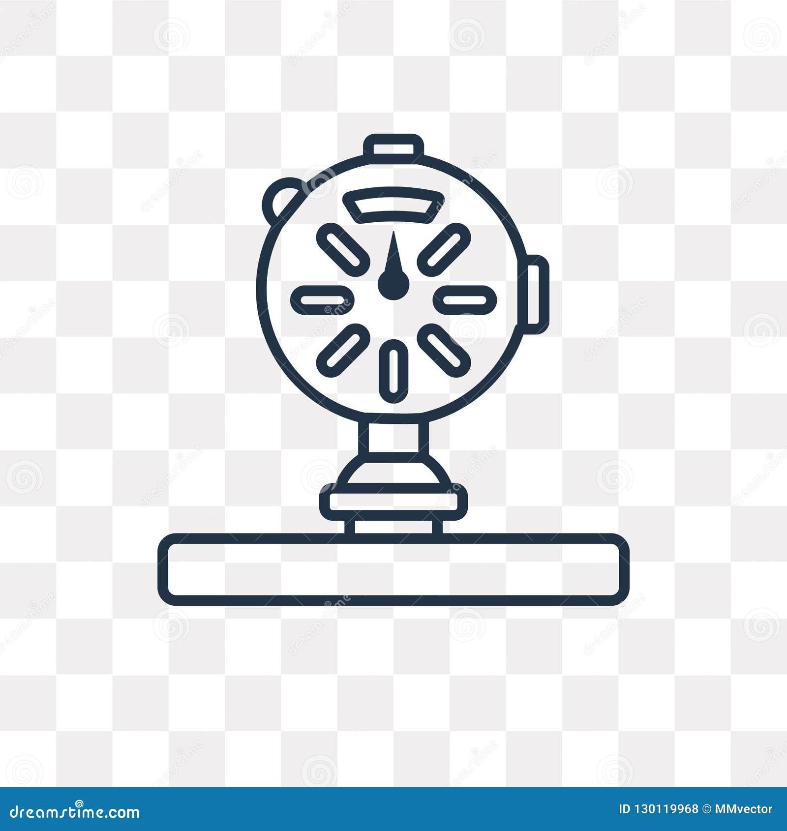 Manometervektorsymbol som isoleras på genomskinlig bakgrund som är linjär