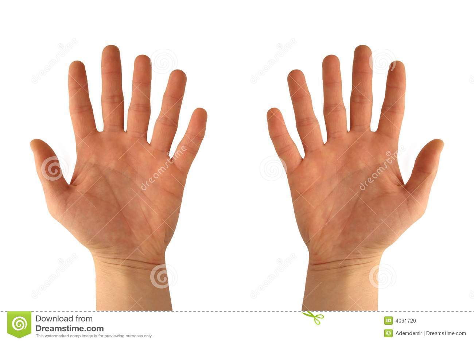 Despojado palmada y dedos
