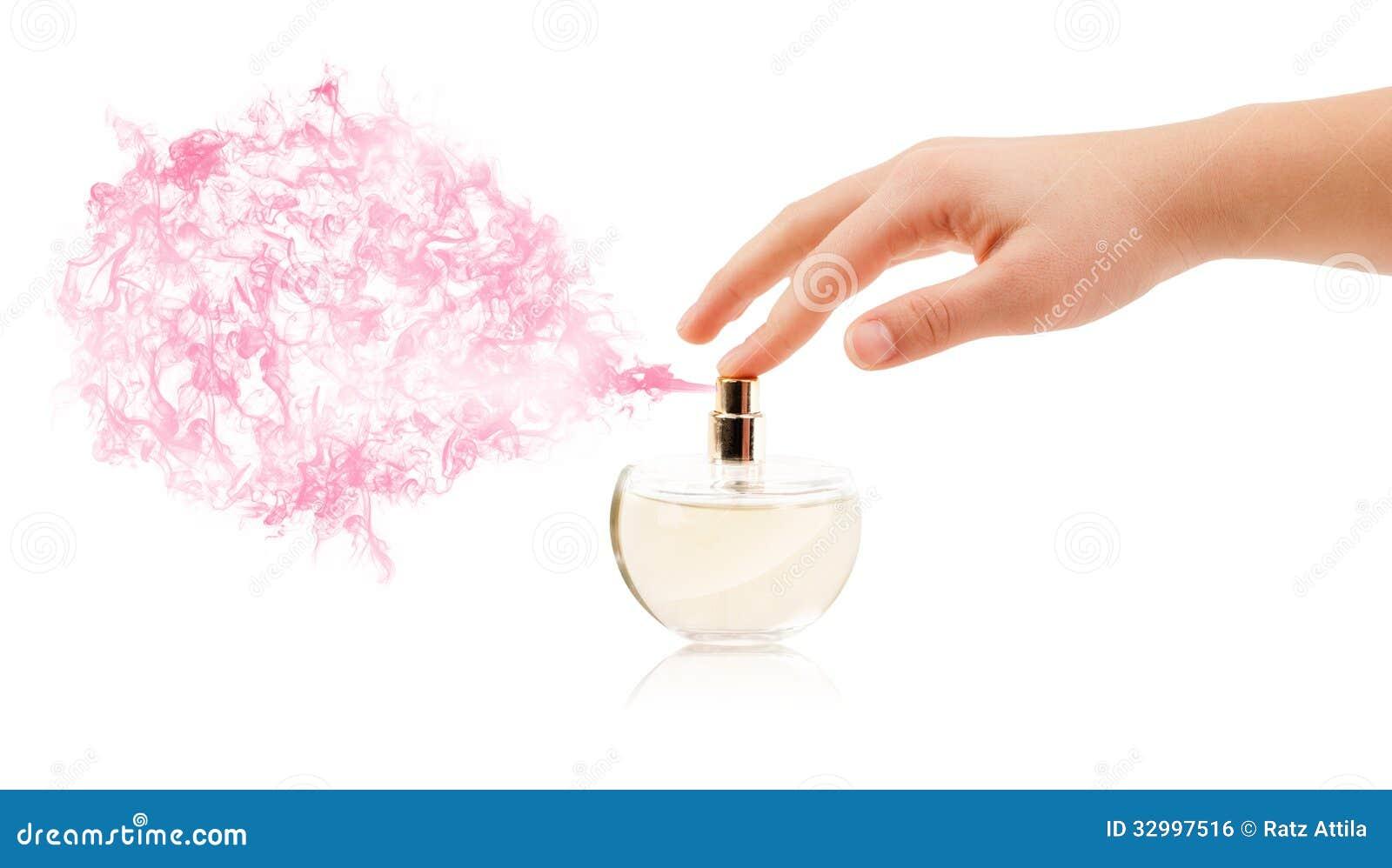 manos de la mujer que roc an perfume imagen de archivo libre de regal as imagen 32997516. Black Bedroom Furniture Sets. Home Design Ideas