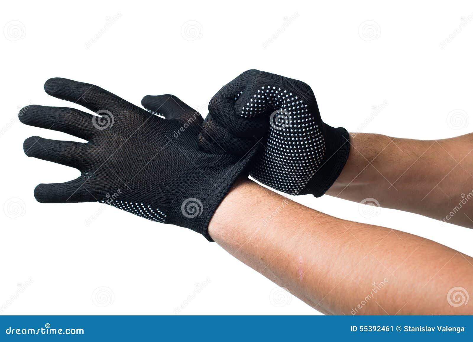 visitando negro trabajo de mano