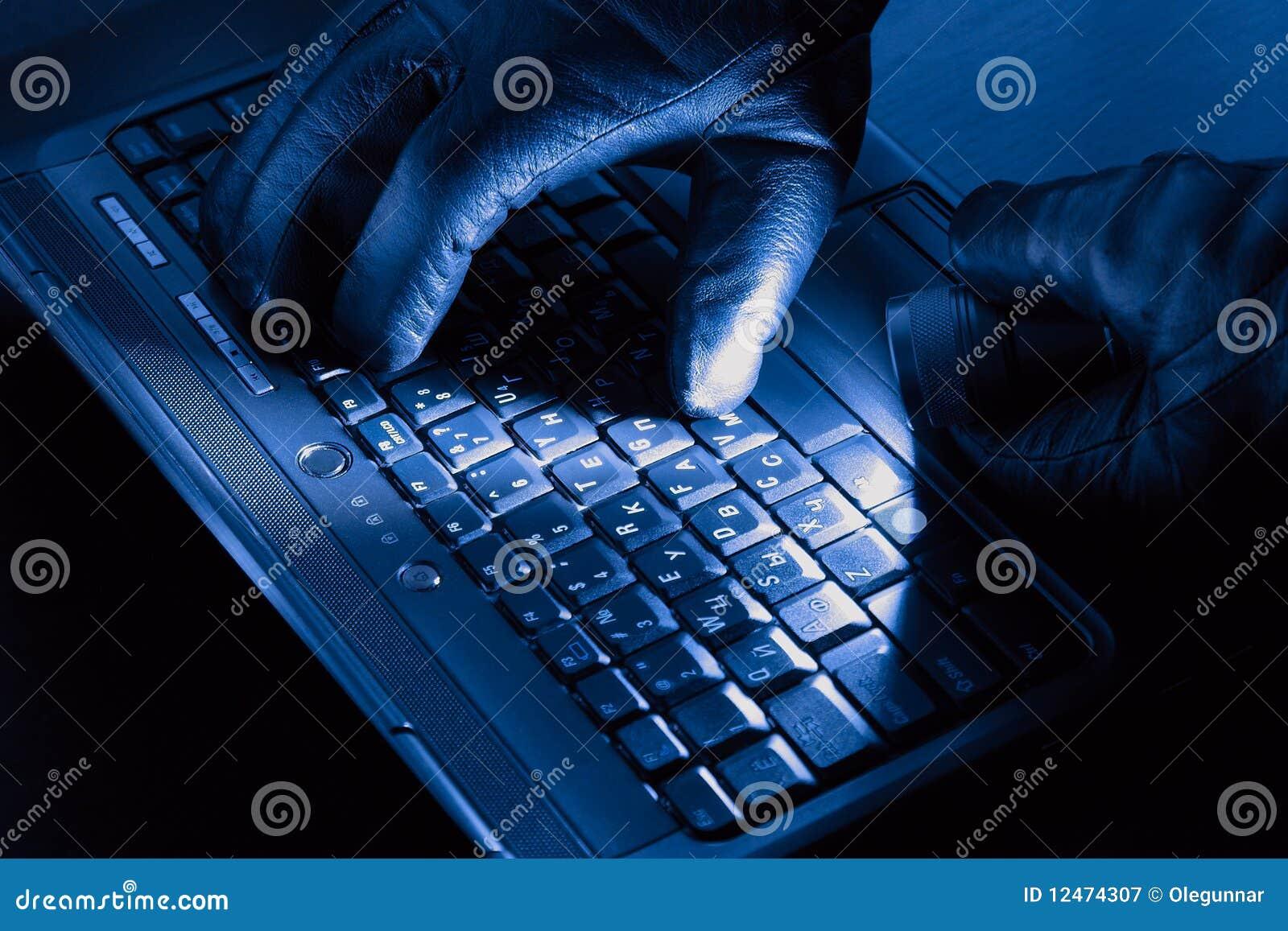 Manos del pirata informático