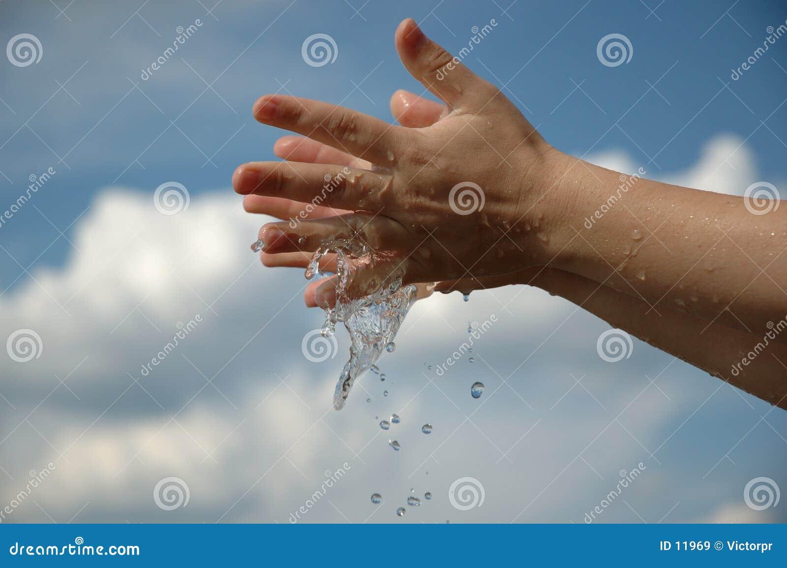 Manos en agua