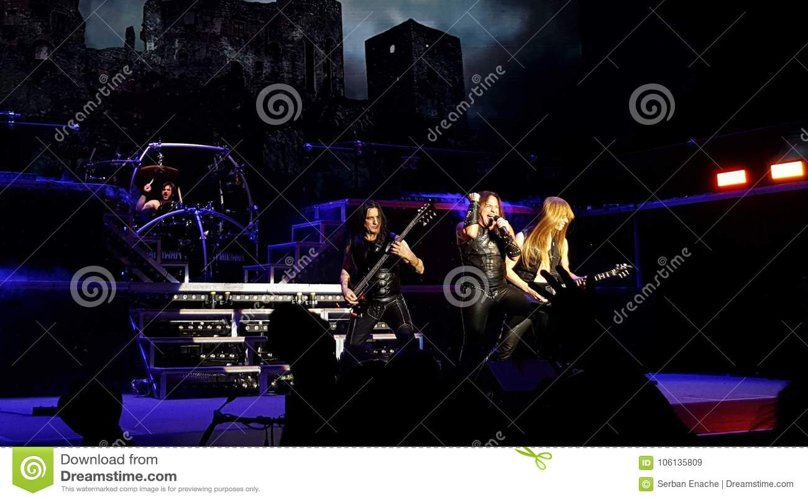 Manowar on stage on Final Battle Tour in Frankfurt
