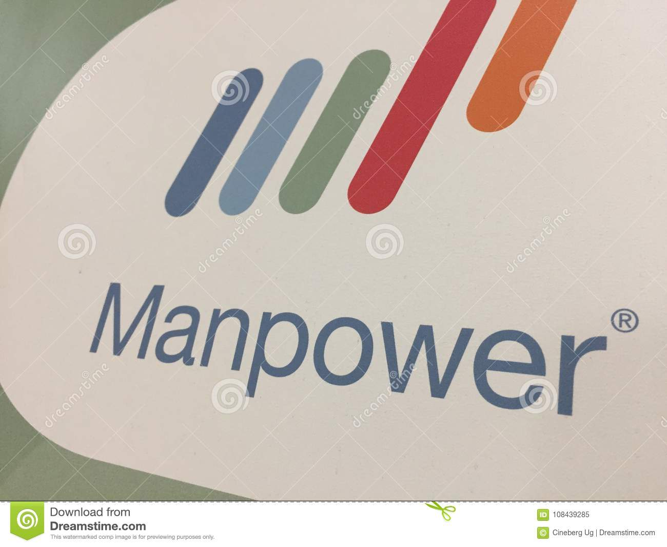 Manpower company logo editorial image  Image of office - 108439285