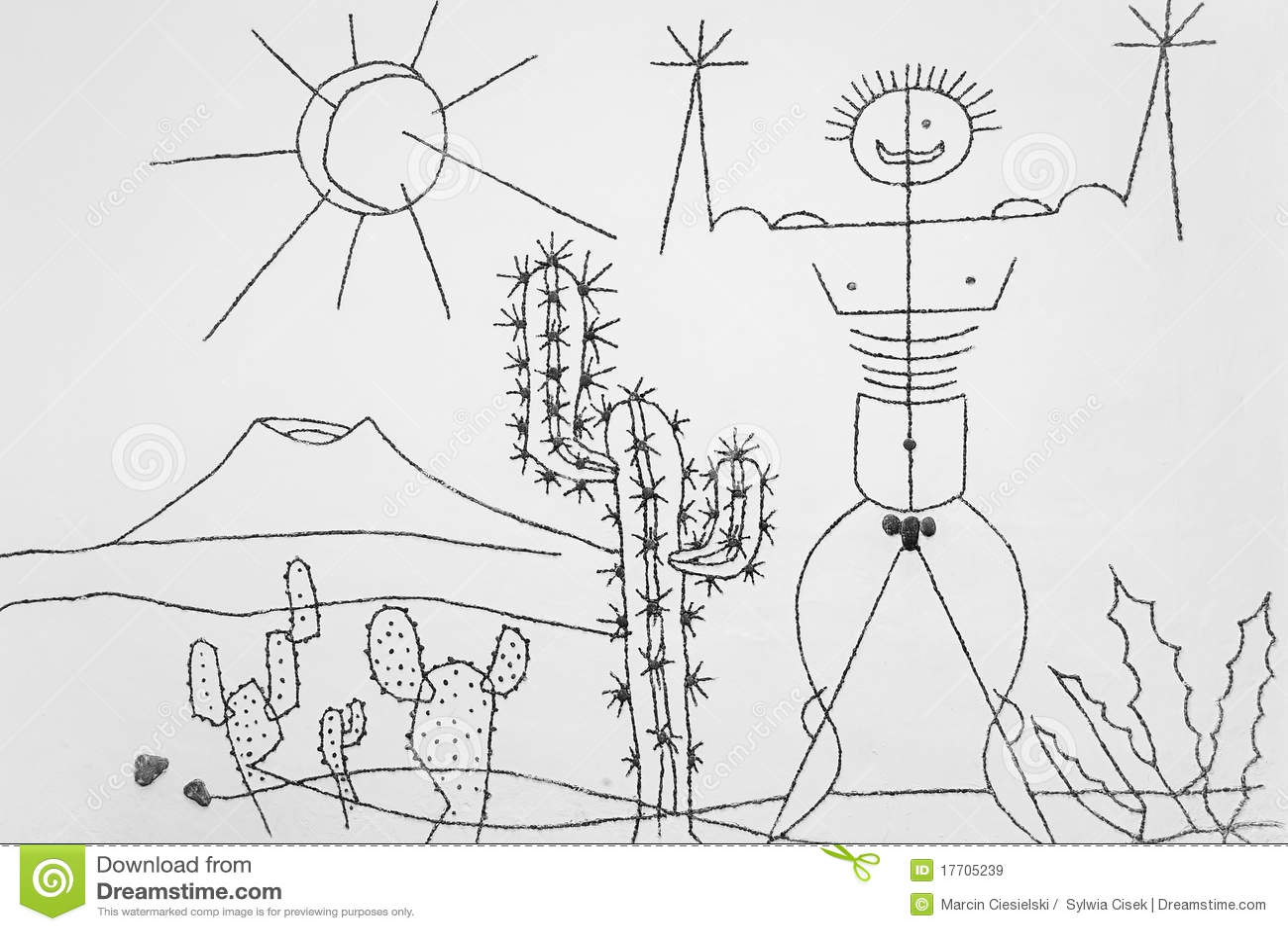 Manrique S Art In Jardin De Cactus Editorial Stock Image Image Of