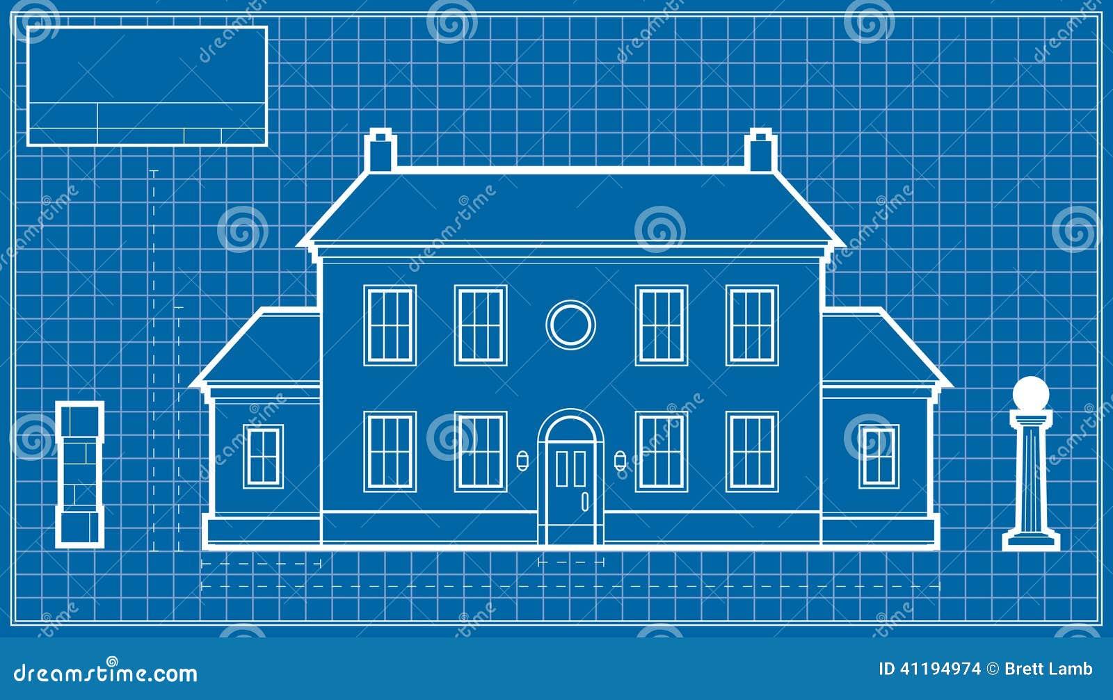 Mansion blueprint stock illustration illustration of paper 41194974 download comp malvernweather Choice Image