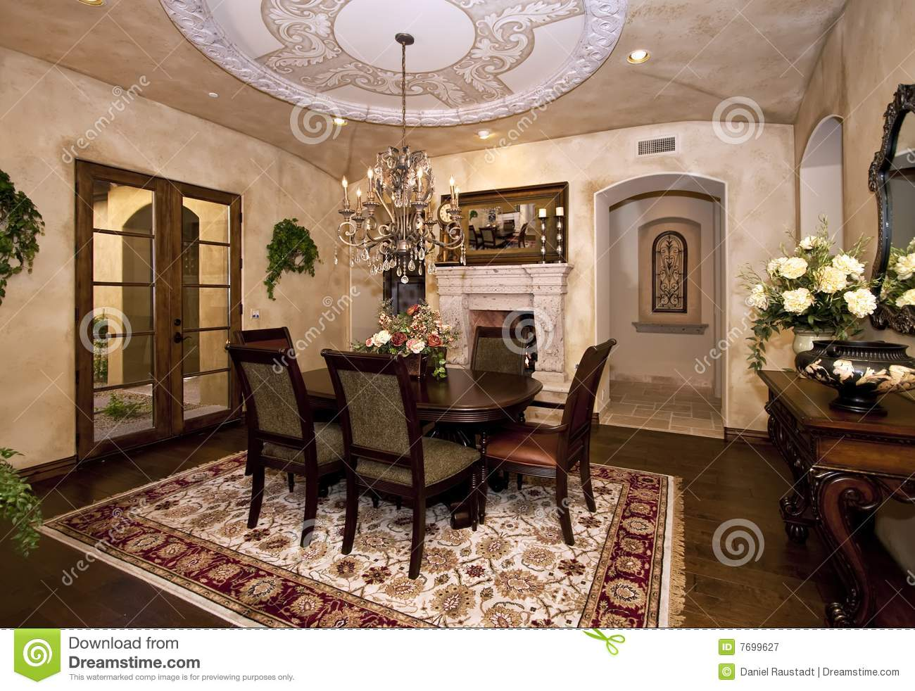 Mansion Dining Room Royalty Free Stock Photography Image