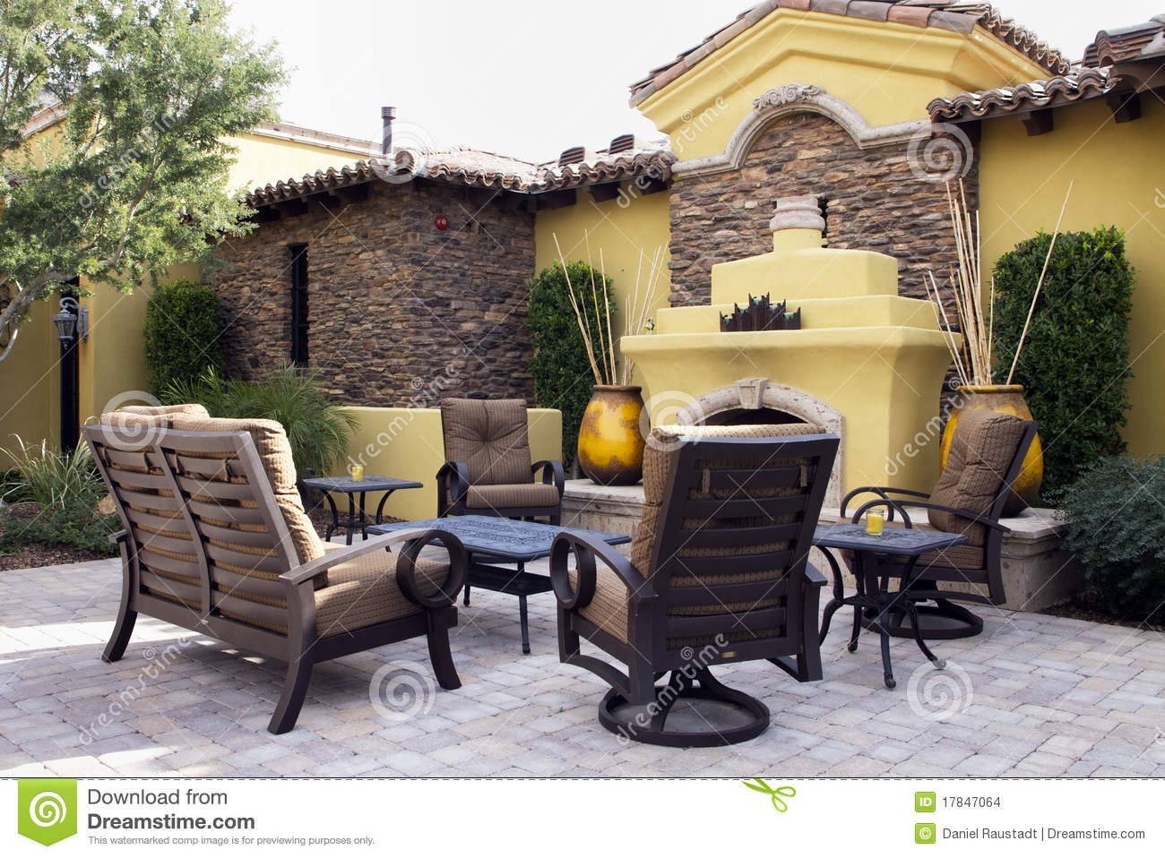 Mansion Home Outdoor Plaza Patio Stock Images Image