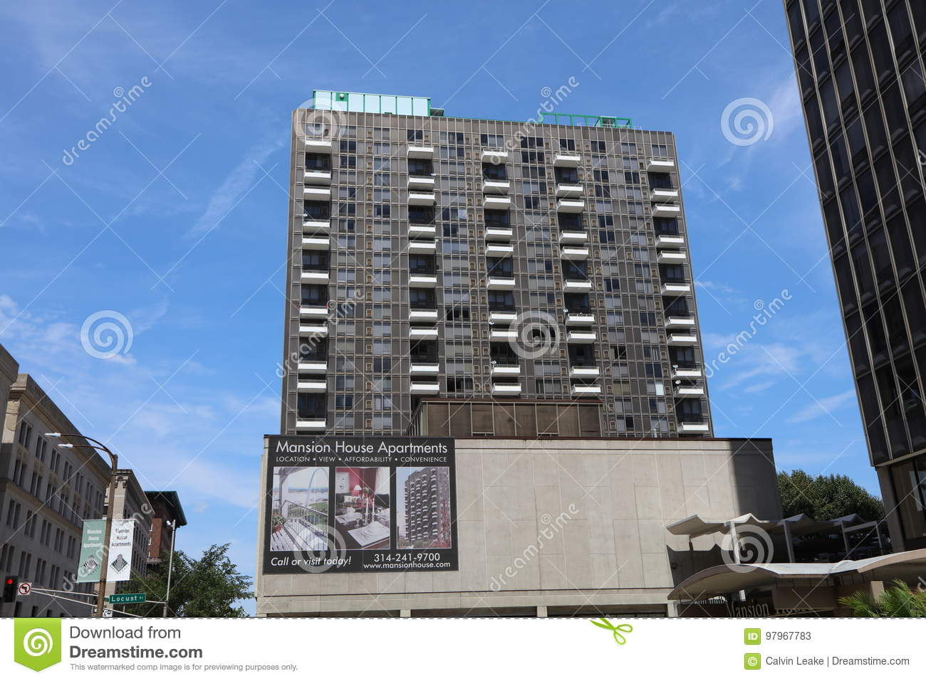 Mansion House Apartment Homes St Louis Missouri Editorial Stock