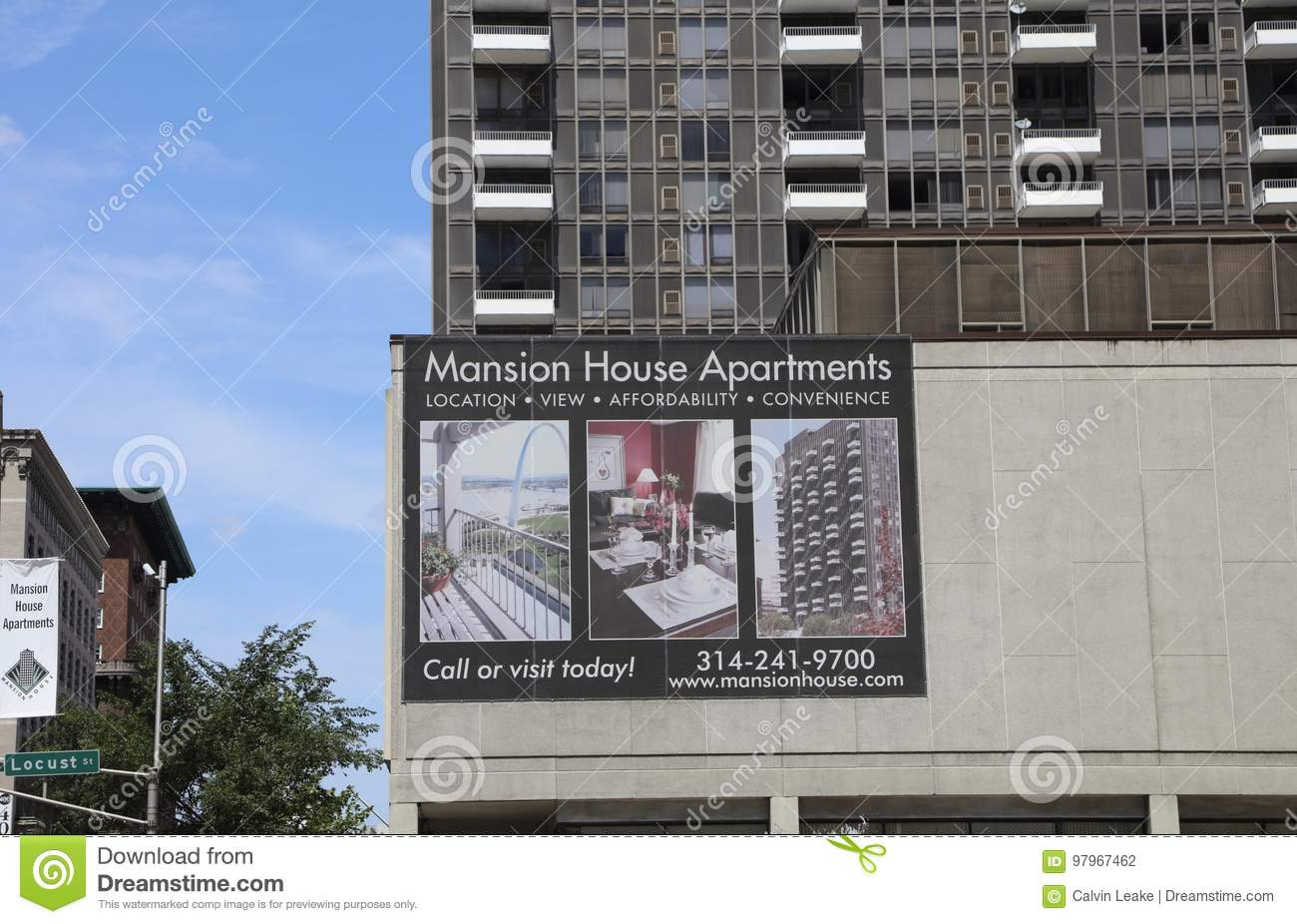 Mansion House Apartments St Louis Missouri Editorial Photography