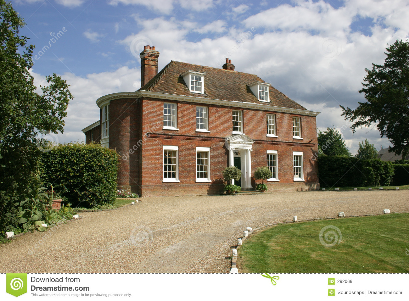 Colonial Luxury House Plans Mansion House Hotel Restaurant Stock Photo Image 292066