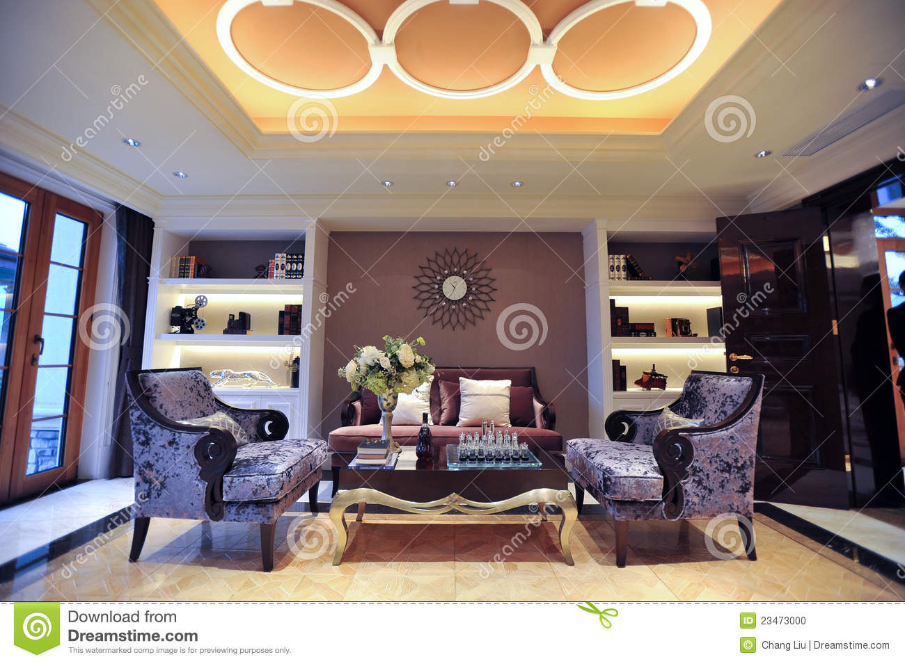 Mansion Living Room Stock Photo