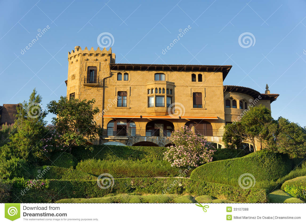 Mansion In Neguri Getxo Royalty Free Stock Photos