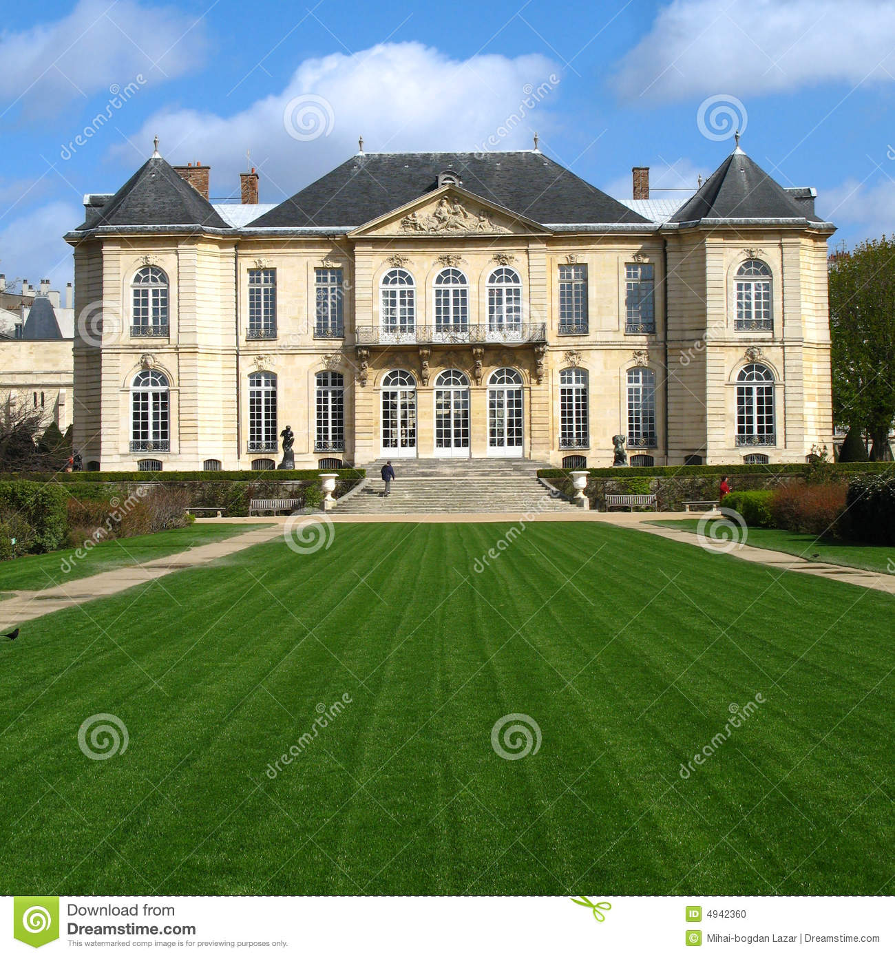 Mansion Rodin Museum Paris France Stock Photo Image