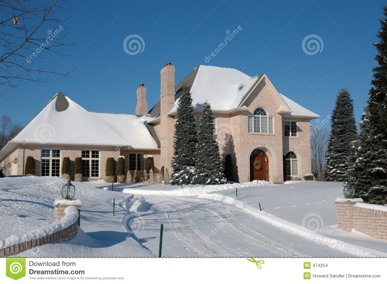 Download Mansion in winter stock photo. Image of luxury, executive - 474254