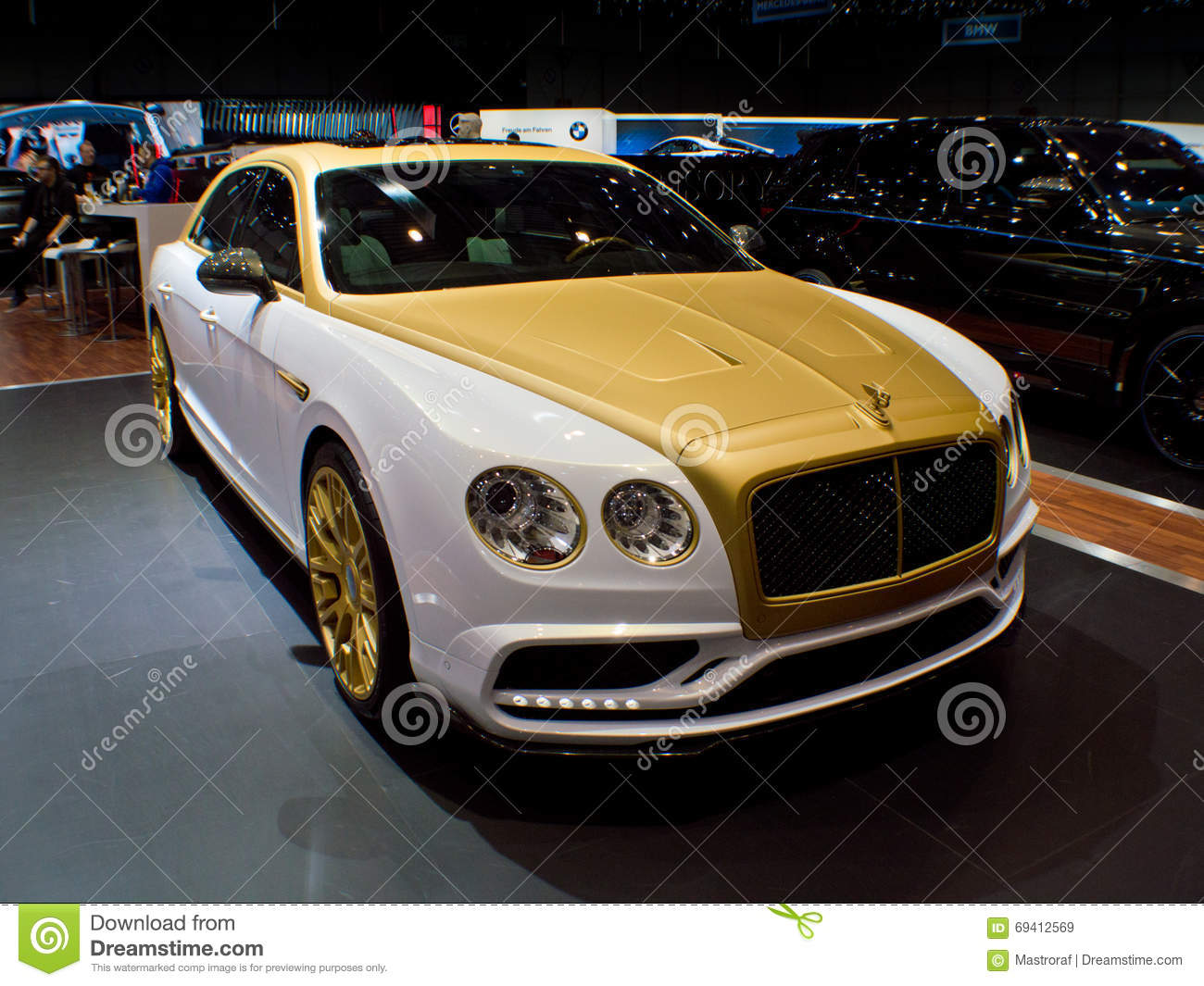 Mansory bentley flying spur at geneva 2016 editorial stock for Adresse salon de l auto geneve