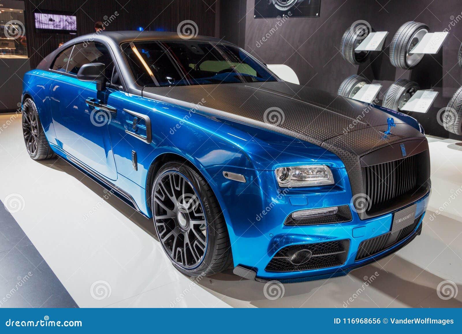 mansory rolls-royce wraith custom luxury car editorial photo - image