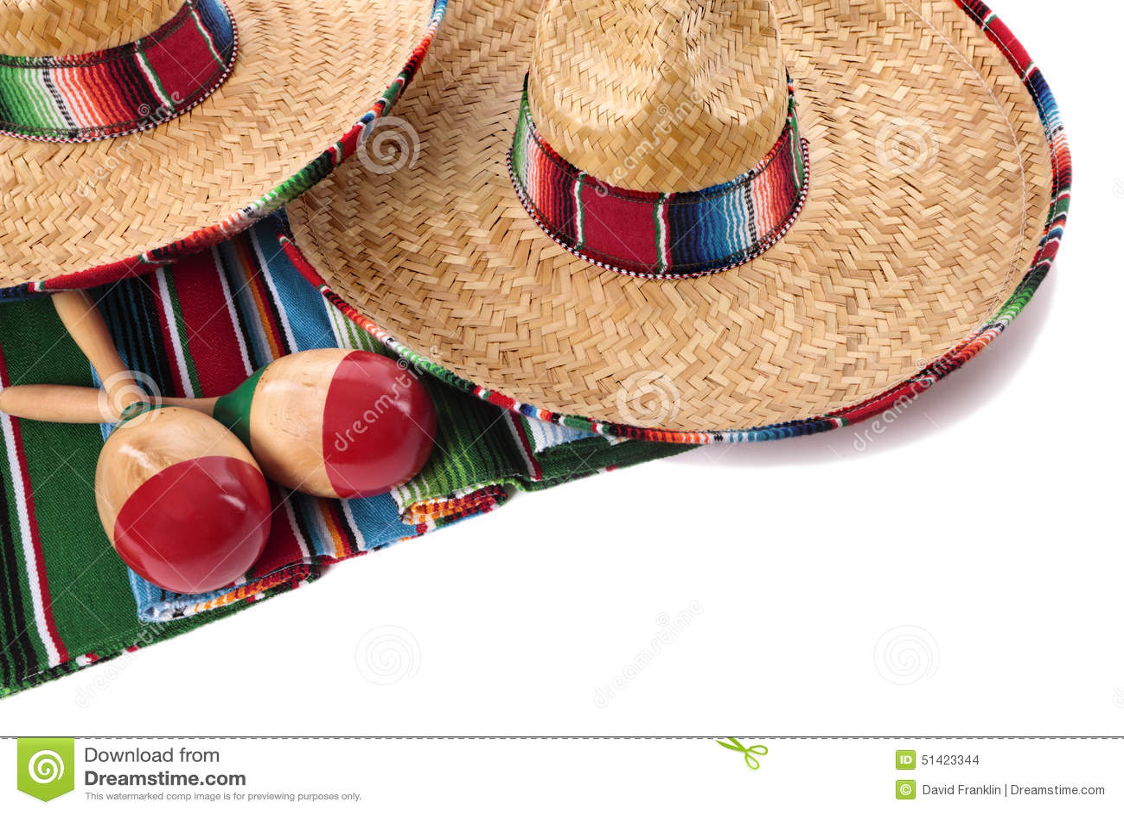 Manta Y Sombreros Mexicanos Foto de archivo - Imagen de rojo 34fb09e336b