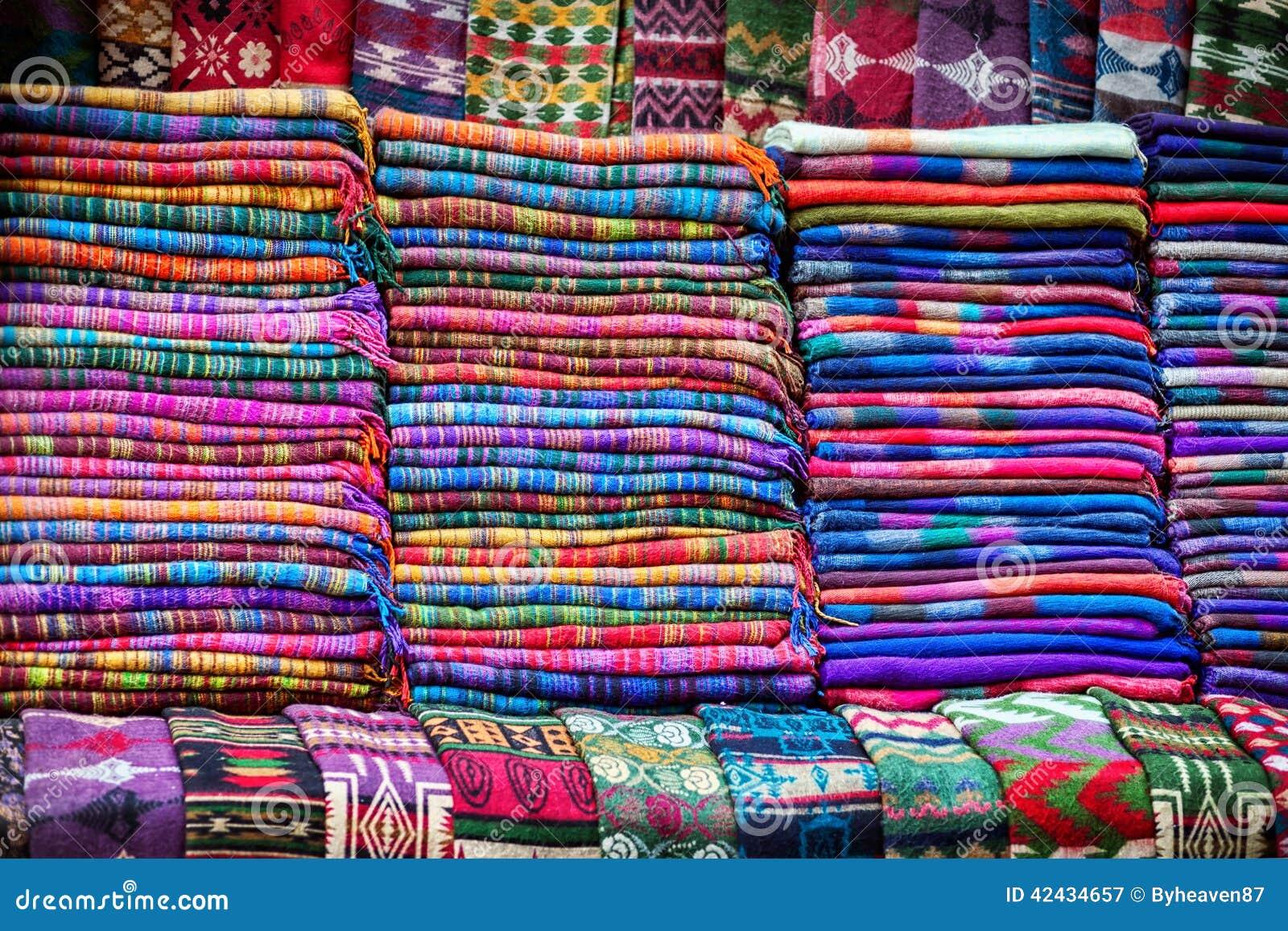 Mantas de las lanas de los yacs
