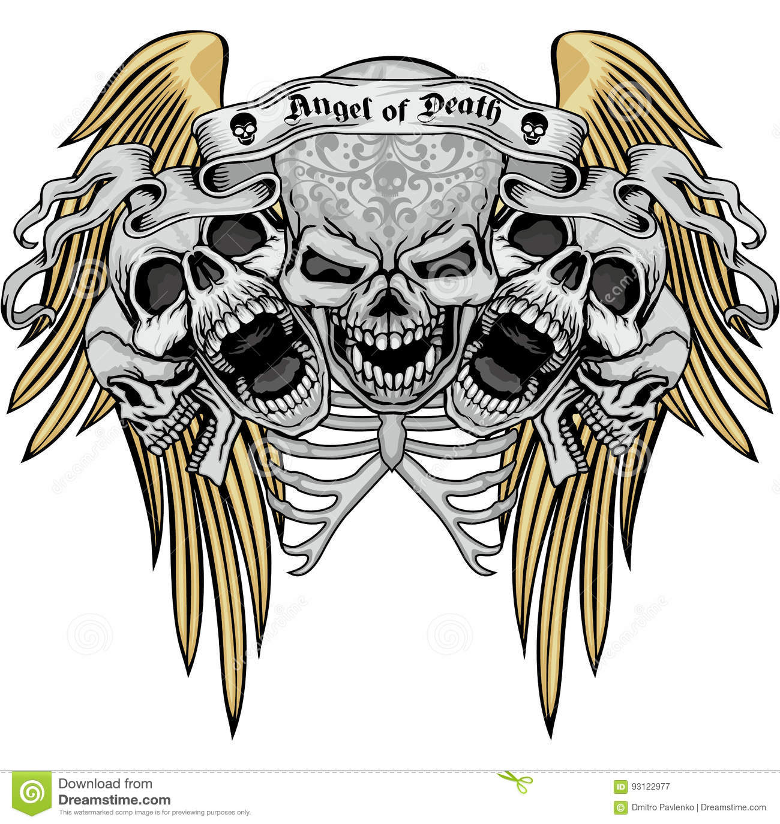 Manteau de crâne des bras grunge