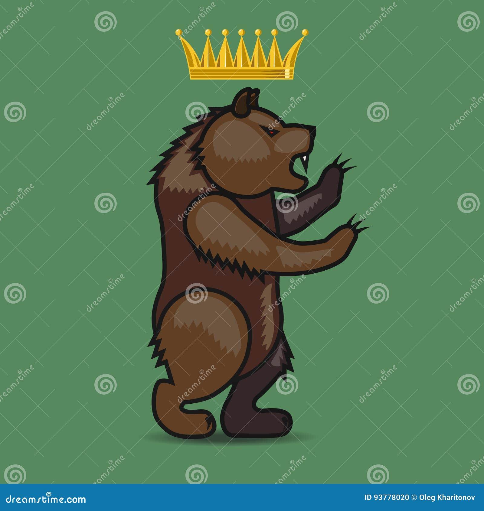 Manteau des bras avec un ours