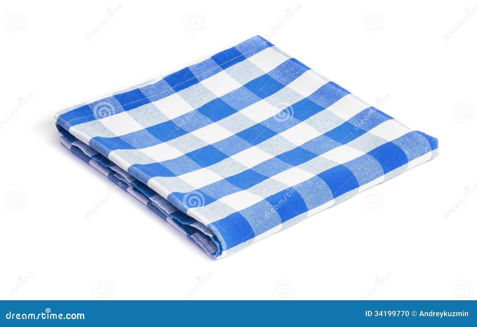 Mantel Doblado Azul Aislado Foto de archivo