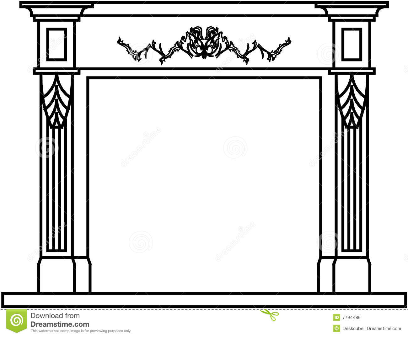 clipart fireplace fire - photo #45