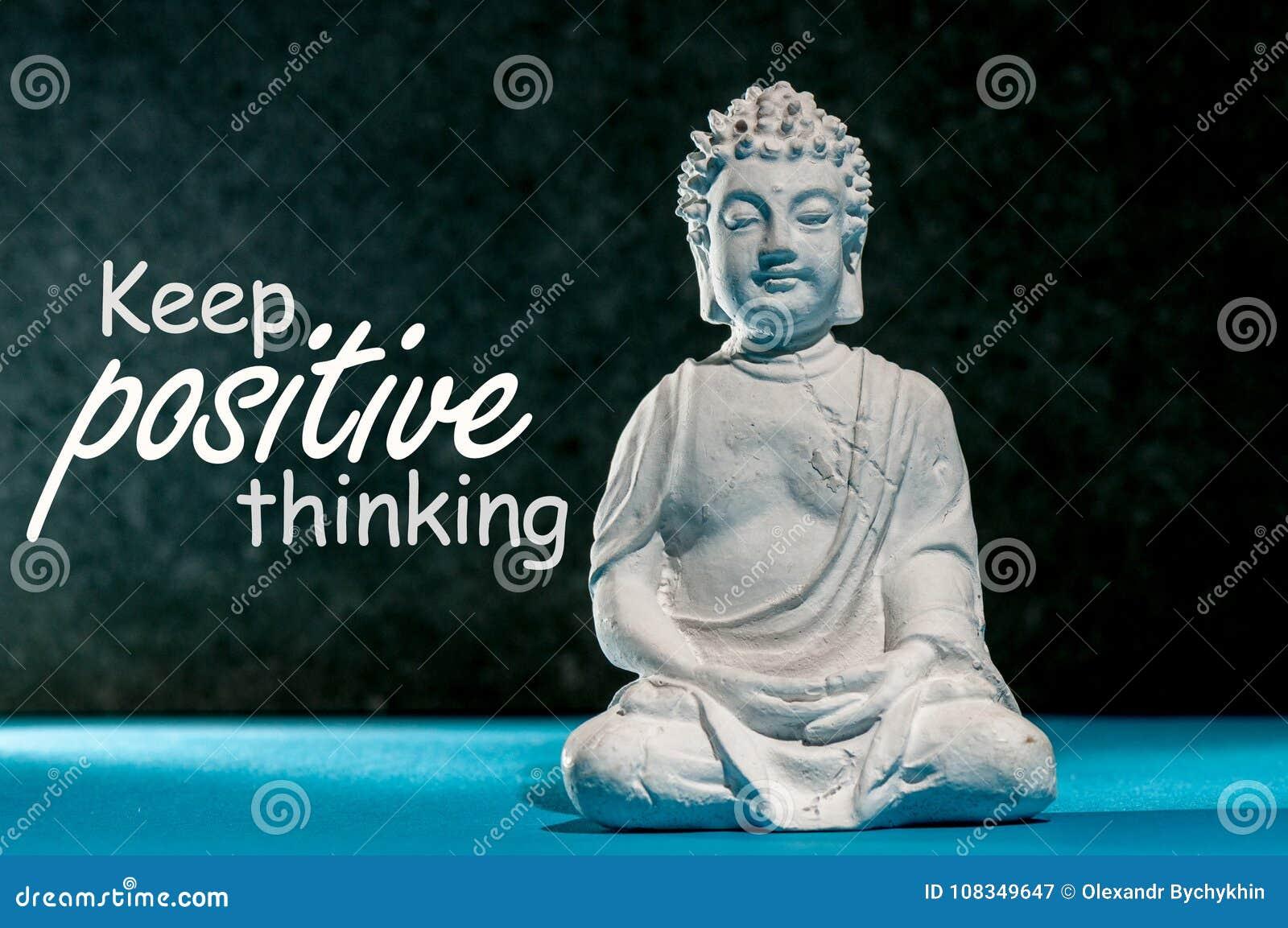 Mantenha O Positivo Pensar Conceito Da Mensagem Da