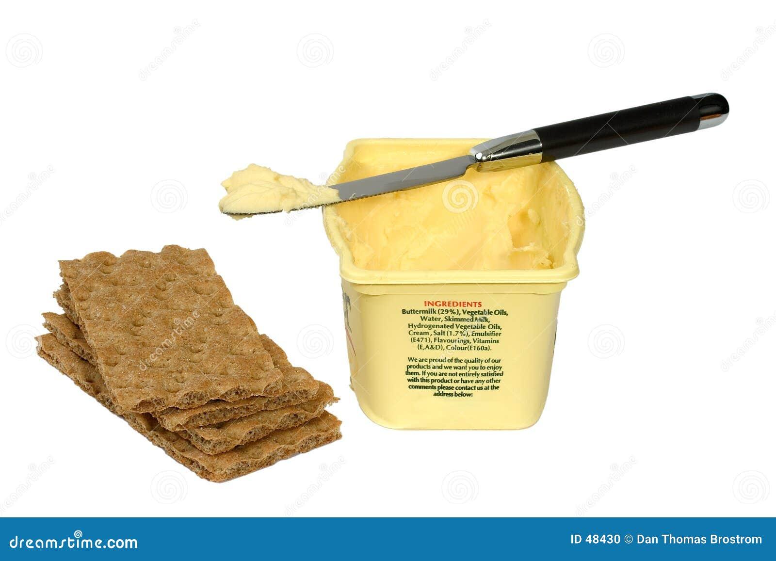 Mantequilla y galletas