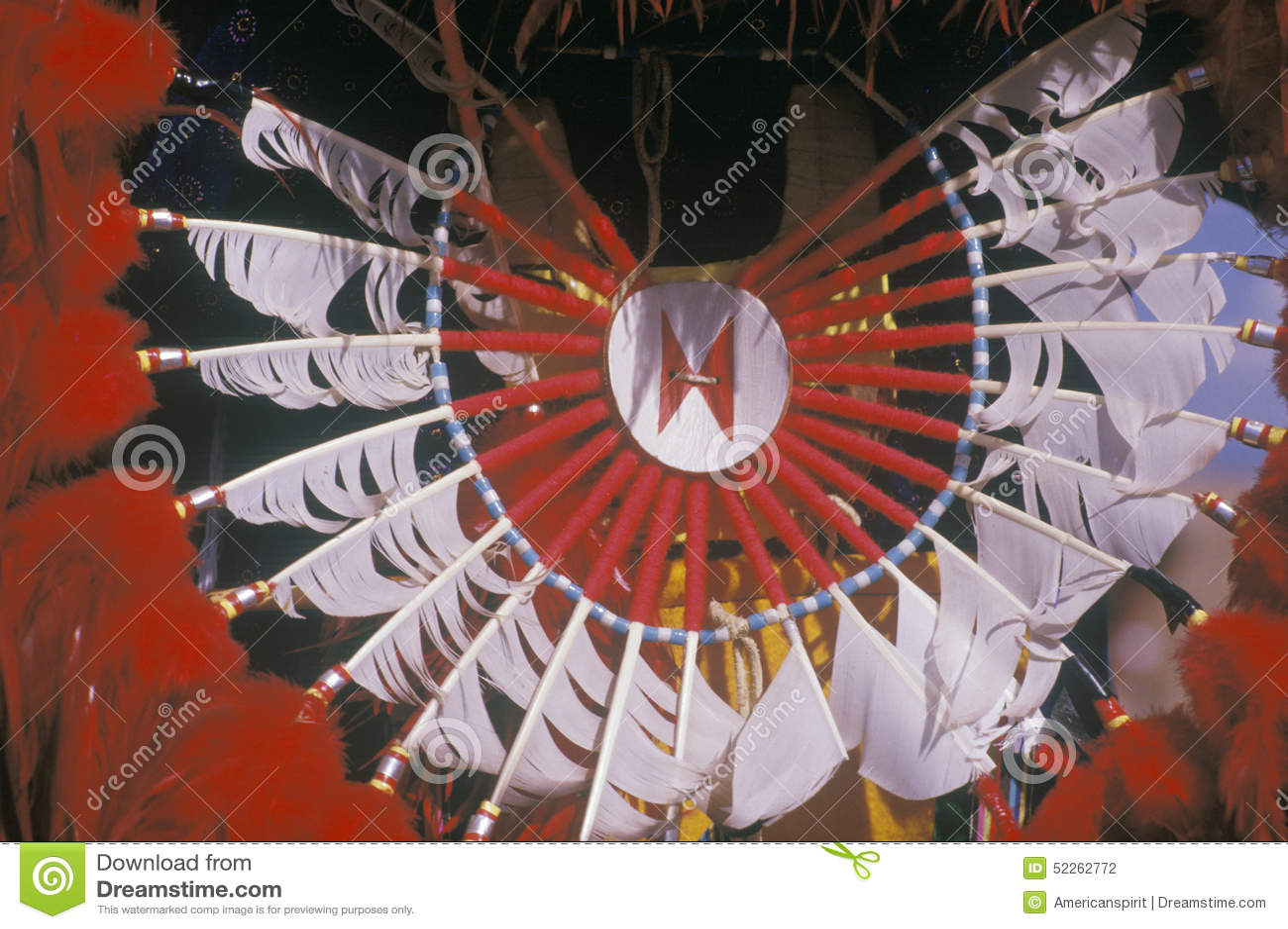 Mantilha para a dança de milho cerimonial, Santa Clara Pueblo do nativo americano, nanômetro