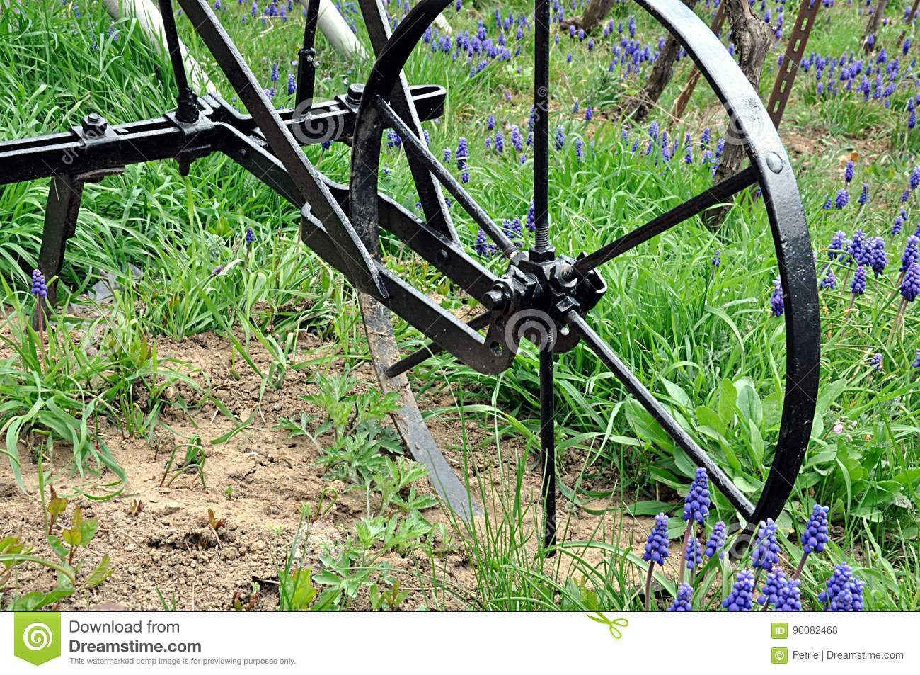 Manual garden plow stock photo  Image of agricultural - 90082468