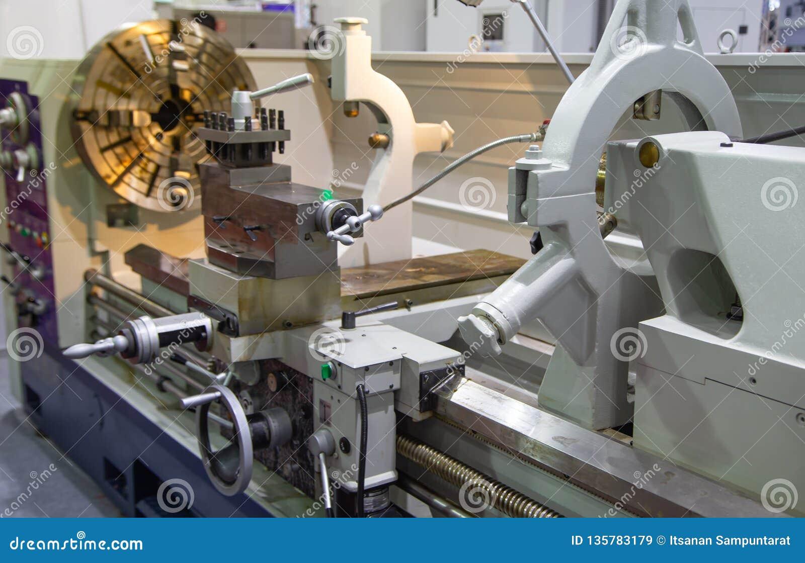 Manual Lathe Machine Stock Image Image Of Machining Manual Guide