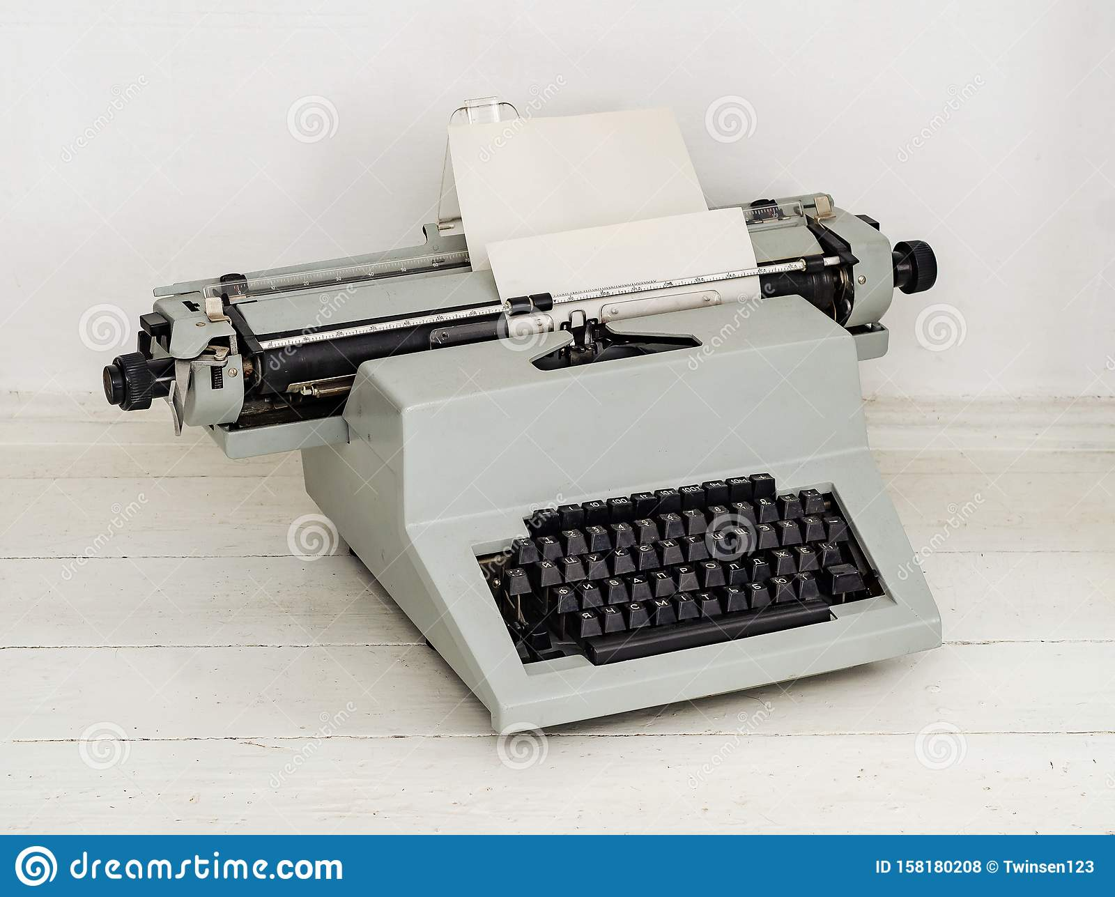 Manual Mechanical Typewriter From The 70s, Light Color ...