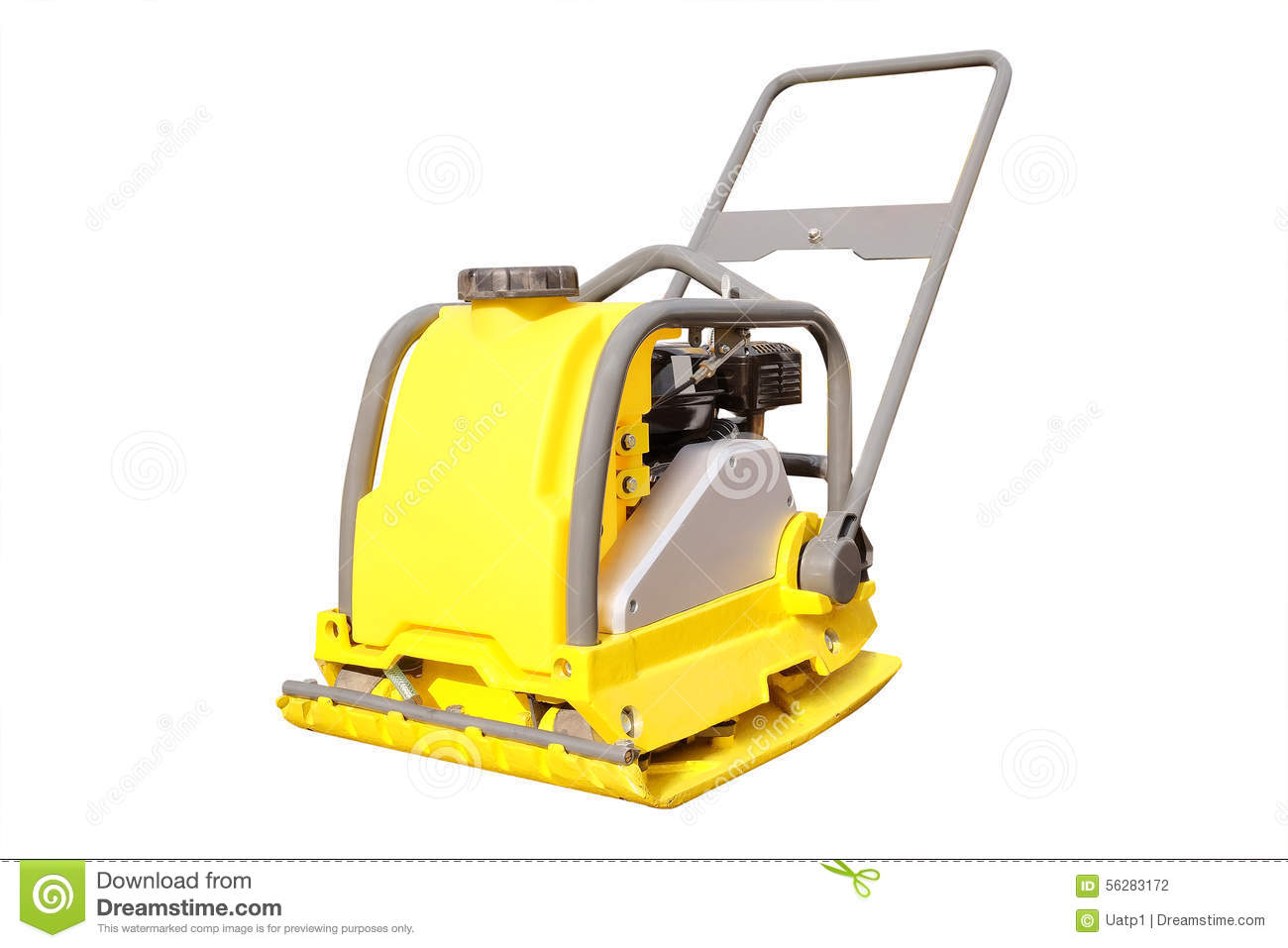 Manual Road Repair Machine Stock Photo  Image Of Paver
